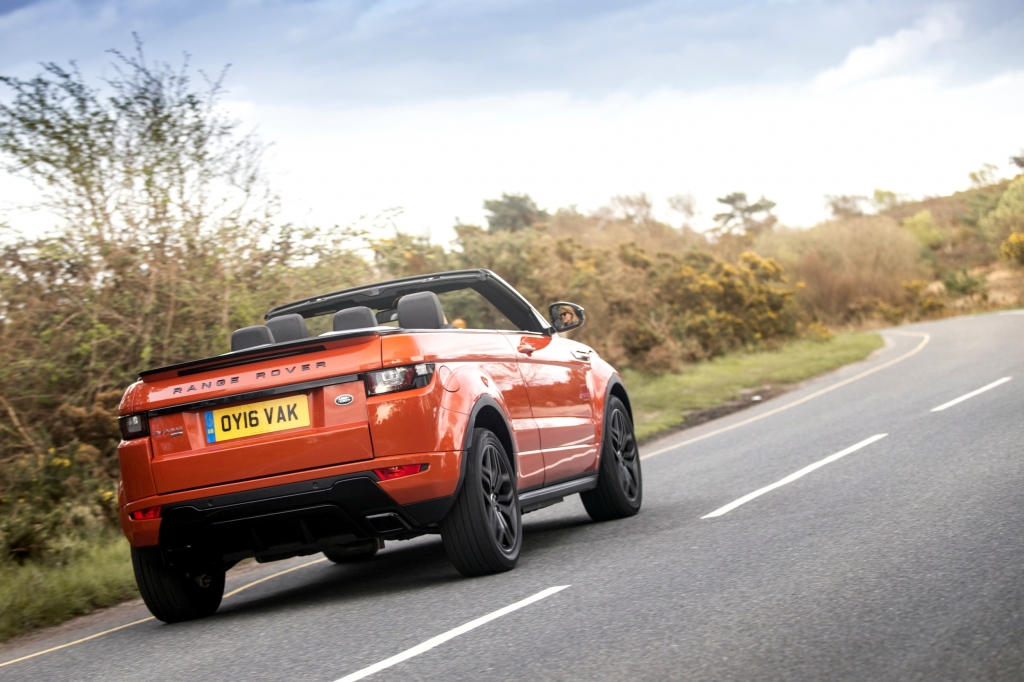 Land Rover Evoque Convertible rear driving