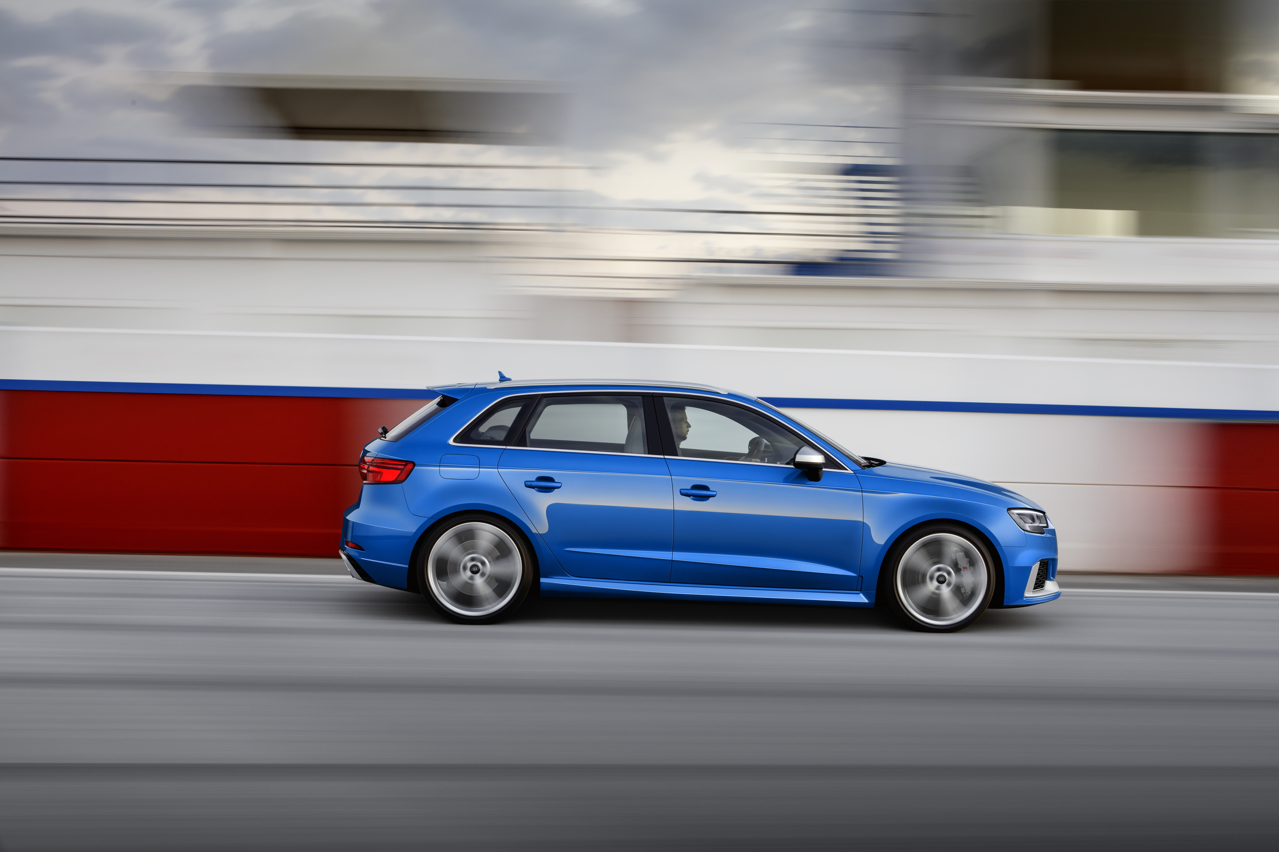 2017 Audi RS3 Sportback at speed
