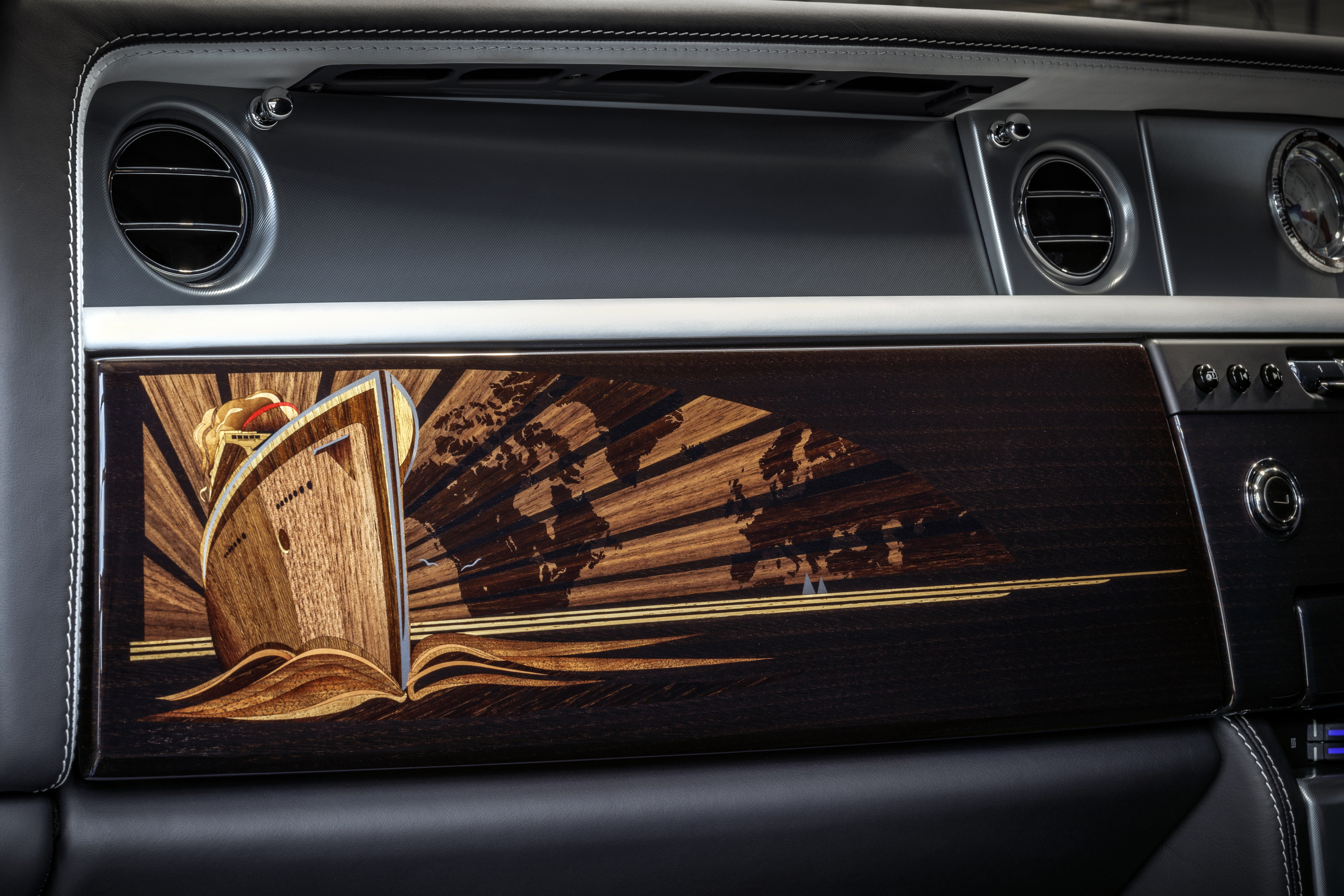 Final Rolls-Royce Phantom VII marquetry Flat-Out