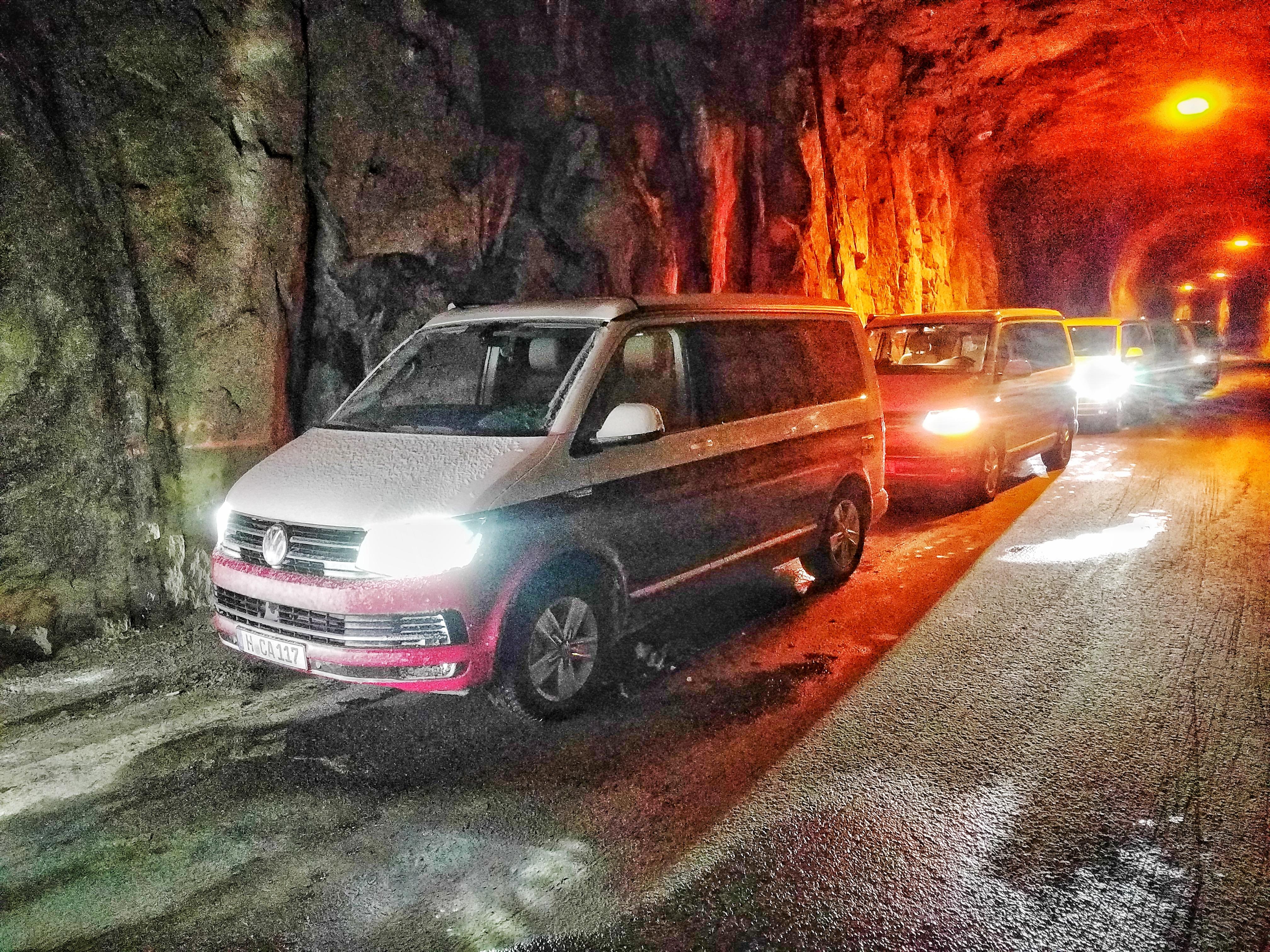 Volkswagen California Norway tunnel