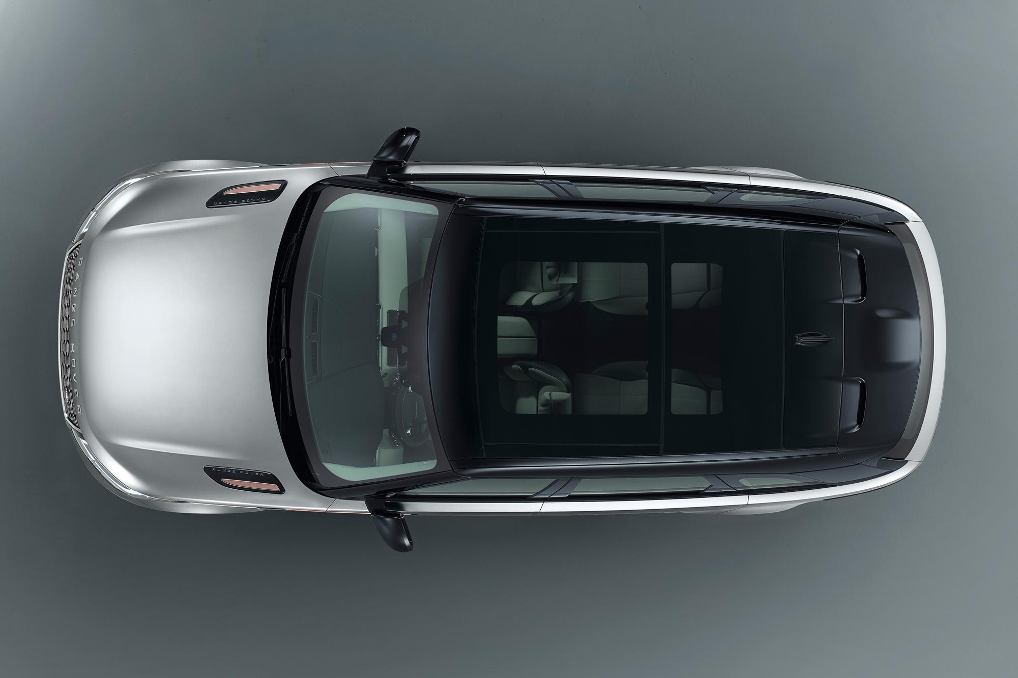 Range Rover Velar above