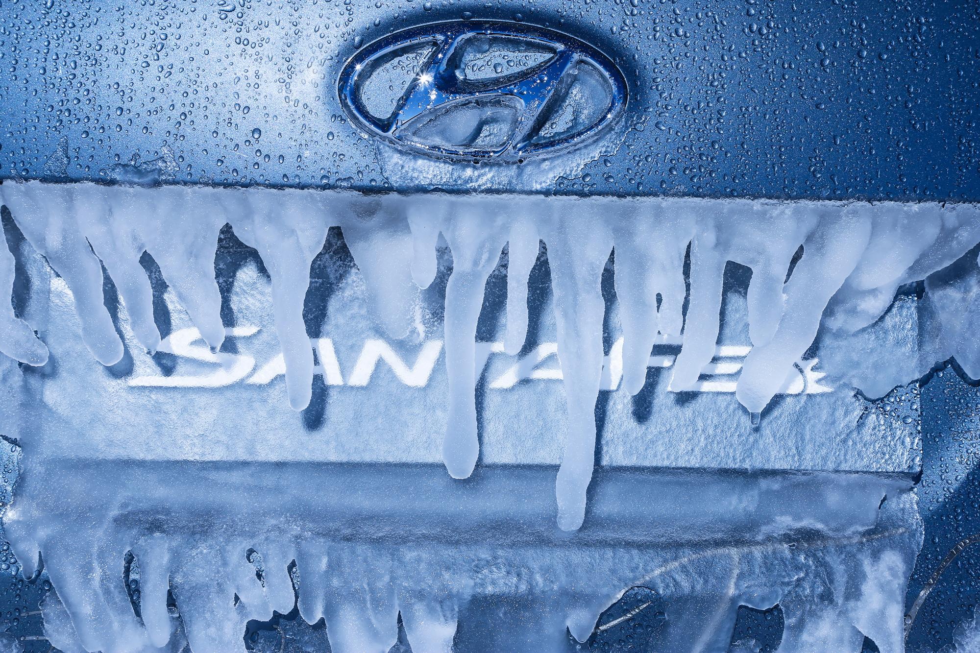 Antarctica Hyundai Santa Fe ice