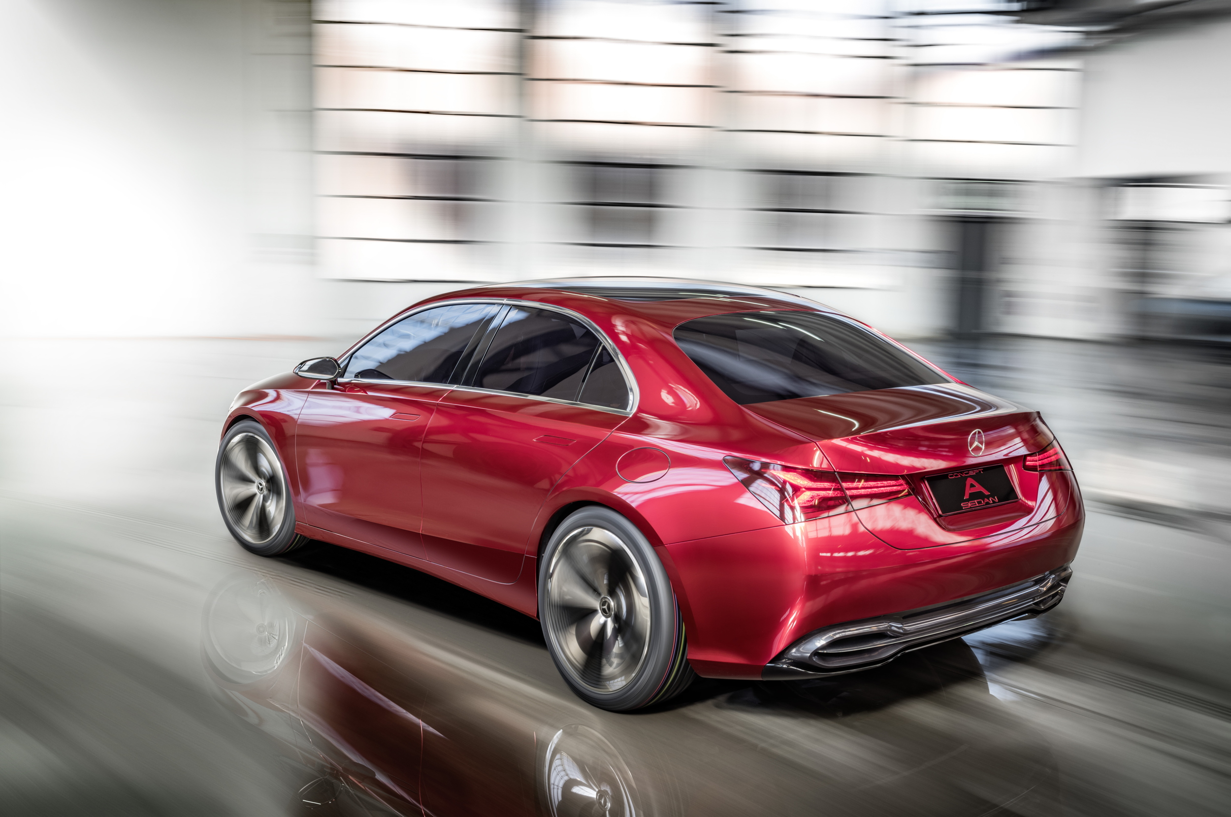 Mercedes-Benz Concept A Sedan rear moving
