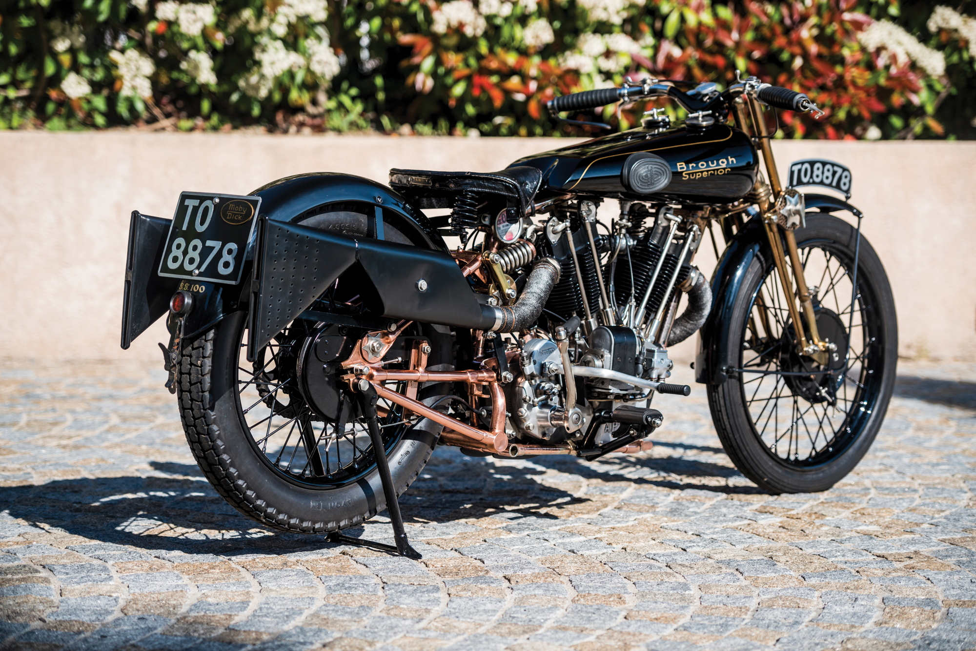 Brough Superior SS100 Moby Dick rear 2017 Villa Erba