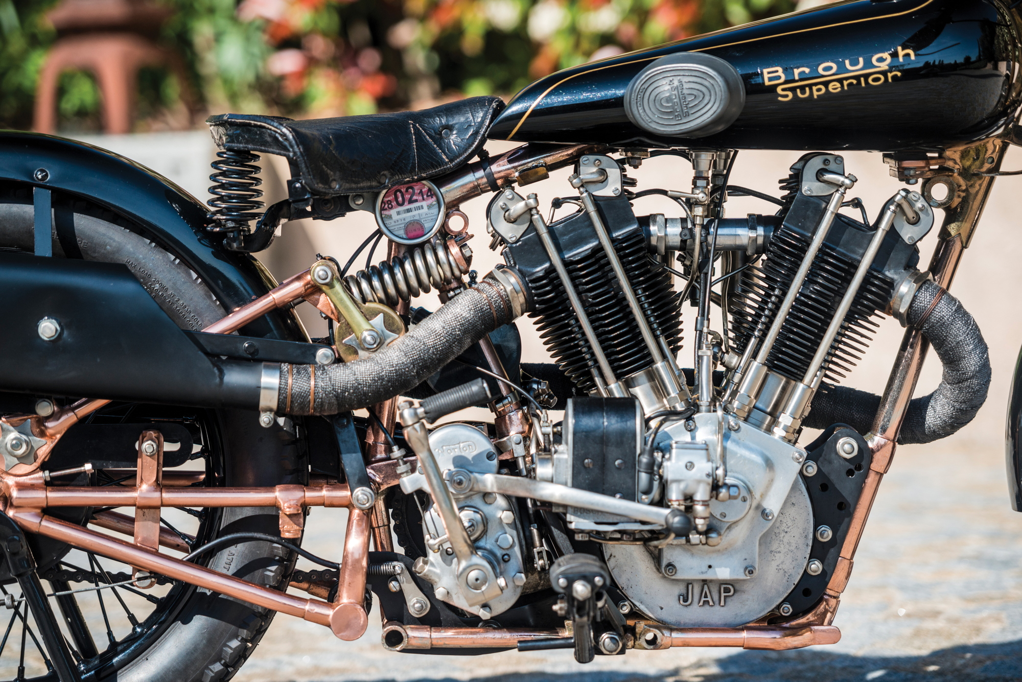 Brough Superior SS100 Moby Dick engine 2017 Villa Erba