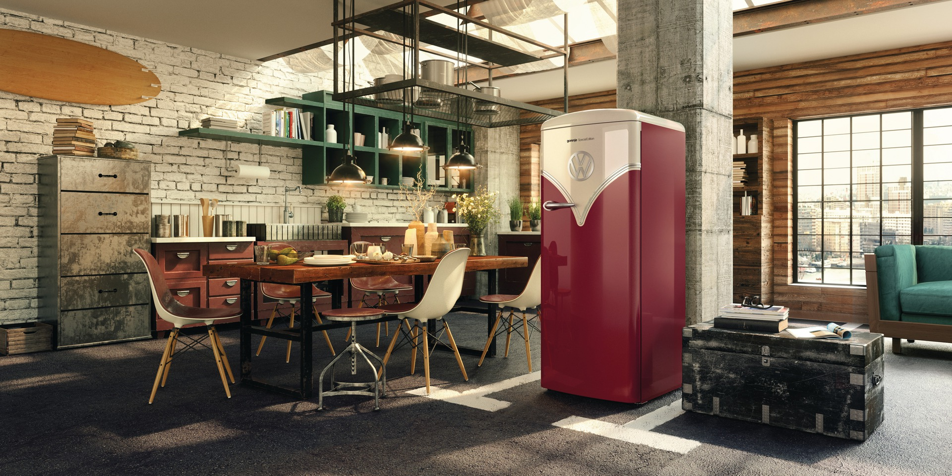 flat out magazine gorenje vw 39 bulli 39 fridge flat out magazine. Black Bedroom Furniture Sets. Home Design Ideas