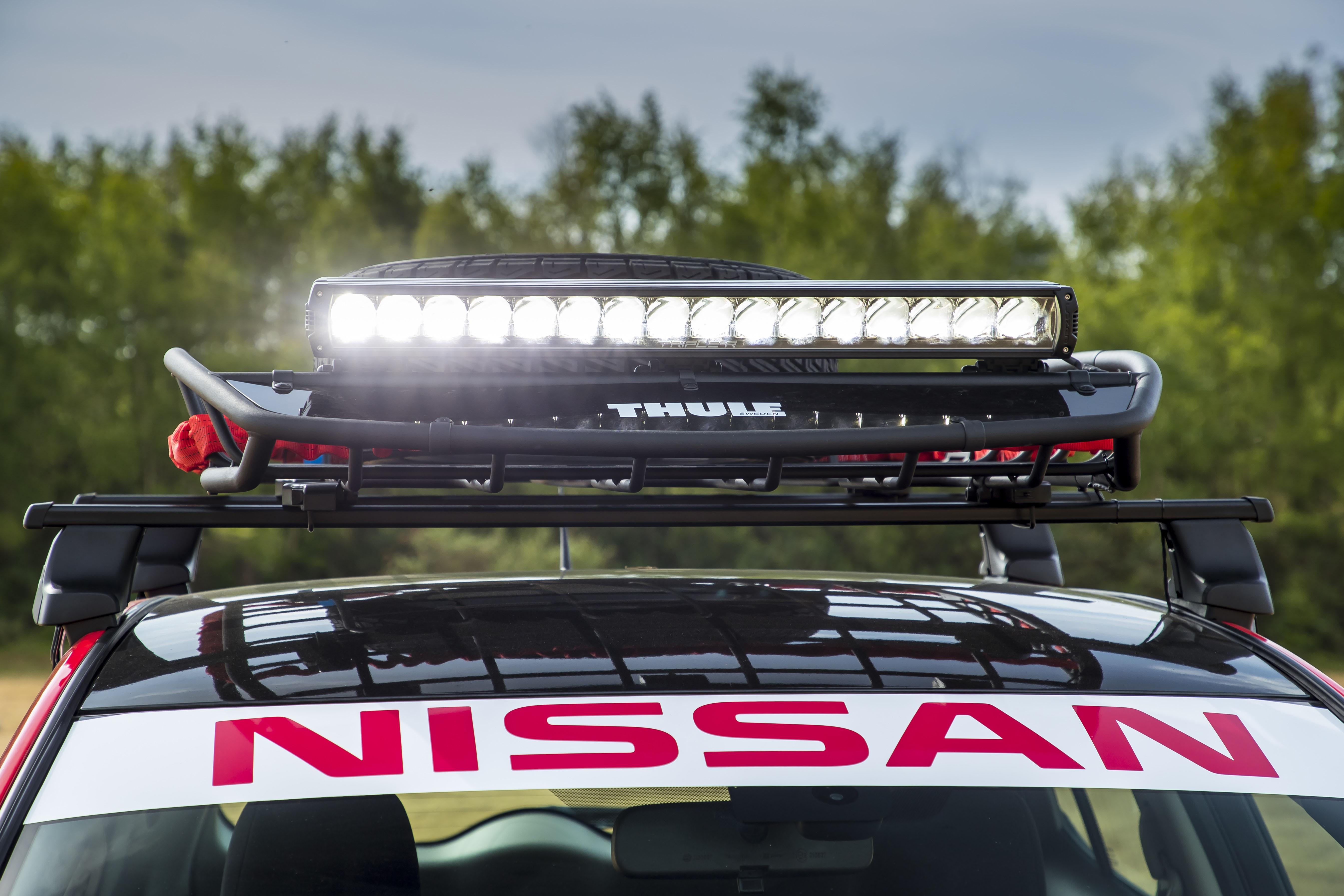 Nissan Leaf Mongol Rally lightbar