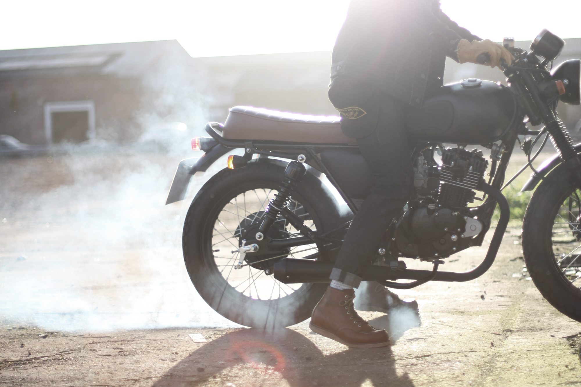 Mutt Motorcycles burnout