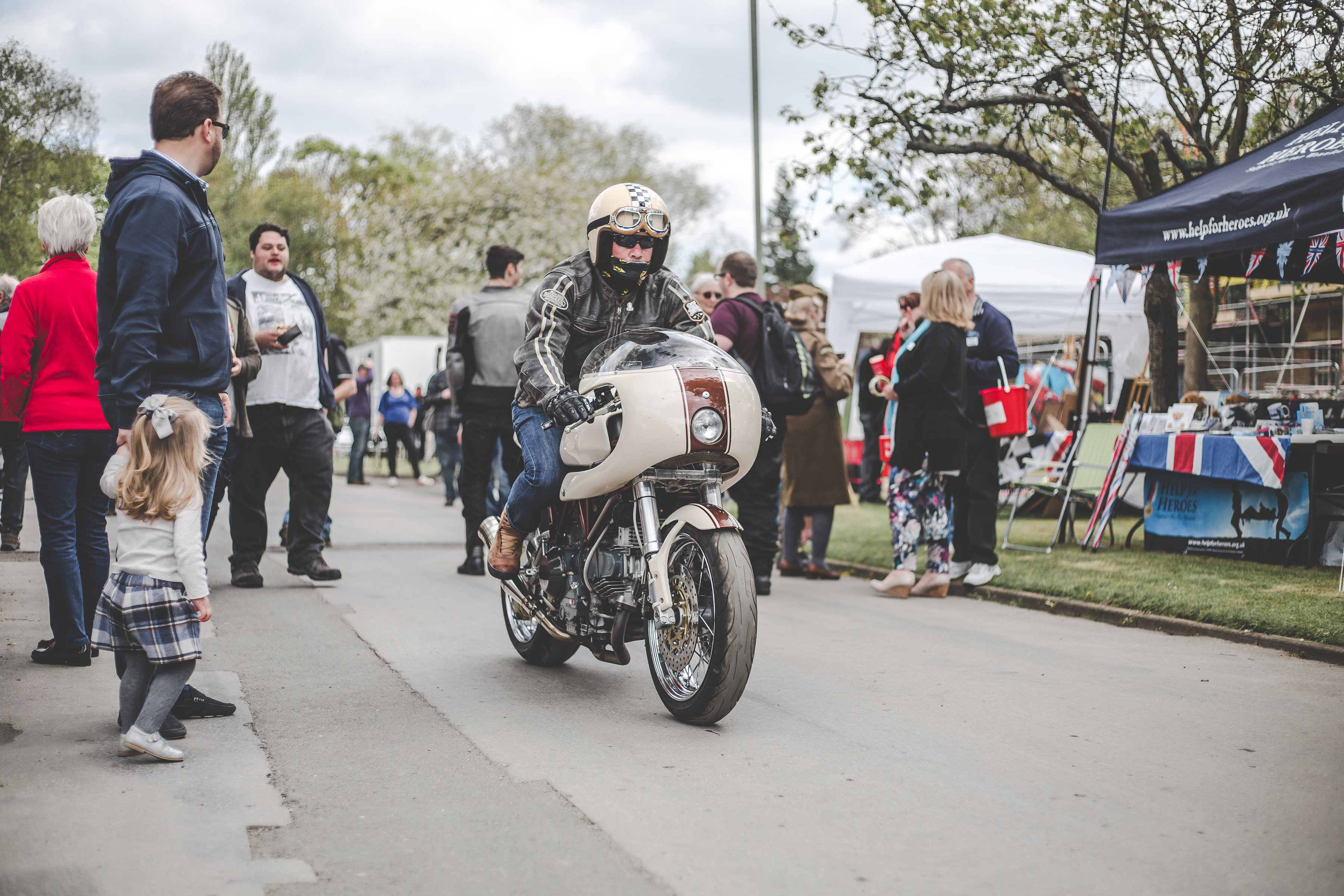 Bicester Heritage Sunday Scramble Cafe Racer