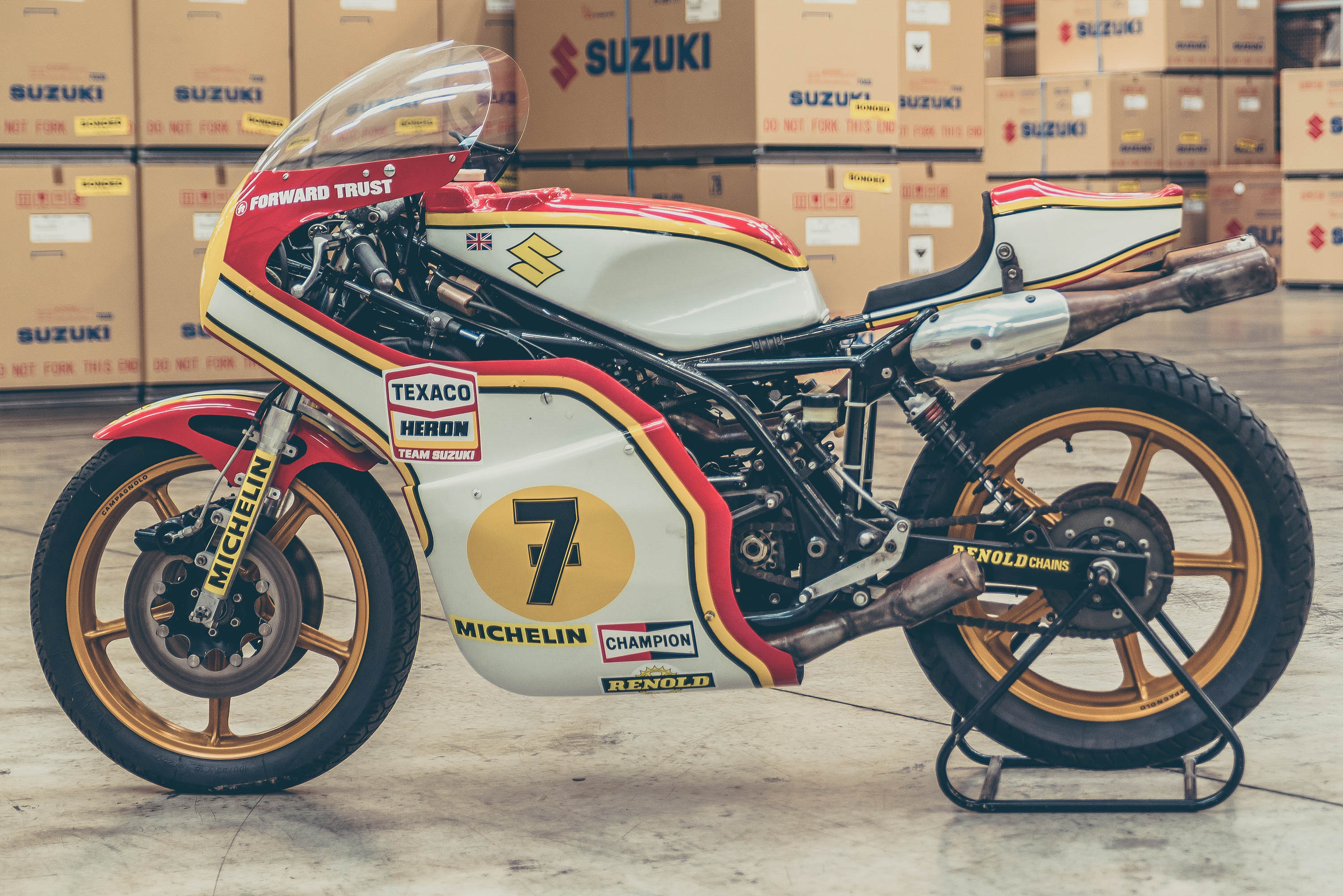 Barry Sheene Suzuki RG500 XR14 restored