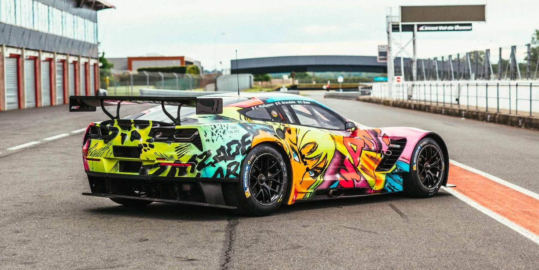 Larbre Corvette art car rear