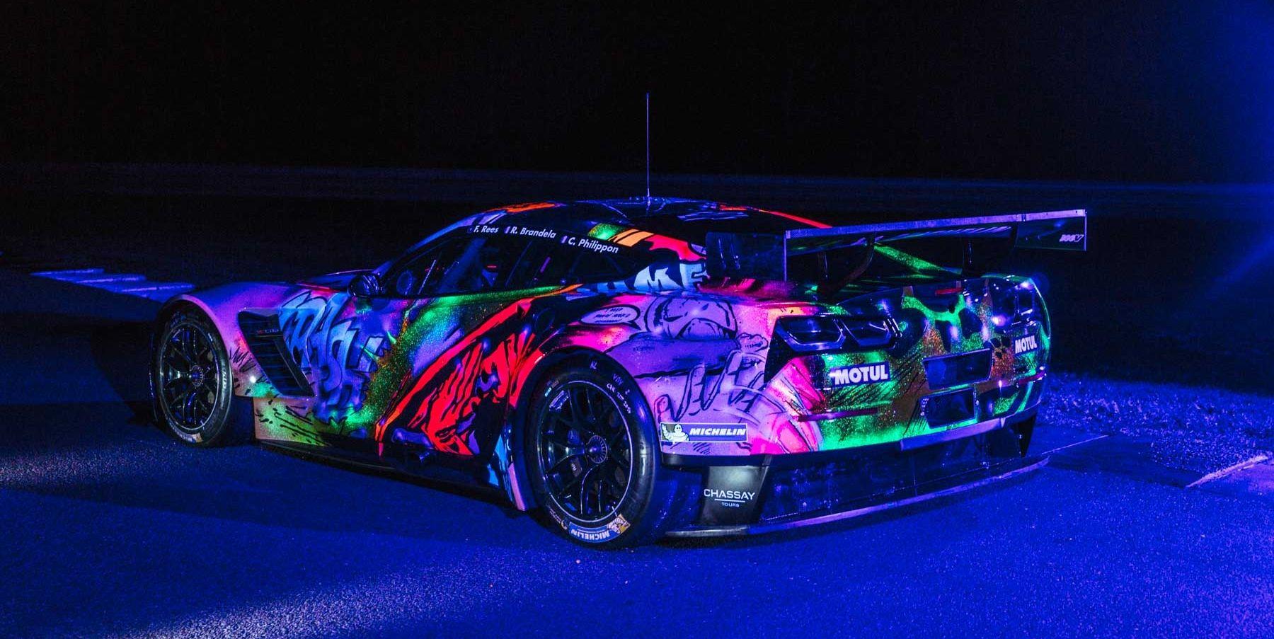 Glow-in-the-dark Corvette C7.R