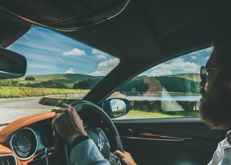 Maserati Ghibli S driving
