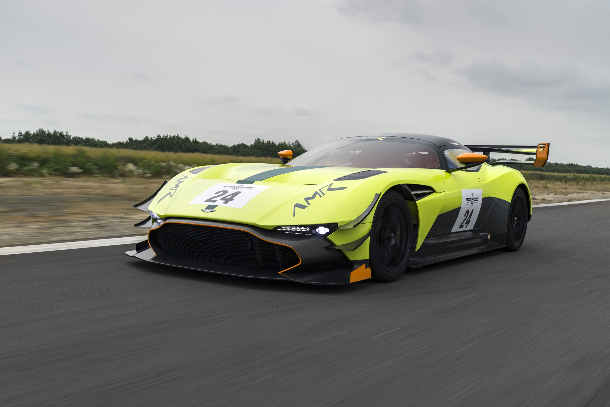 Aston Martin Vulcan AMR Pro front driving