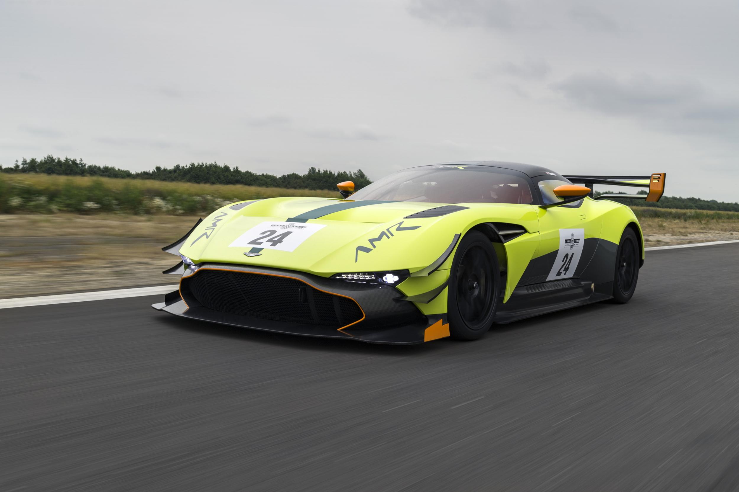 Aston Martin Vulcan AMR Pro front driving