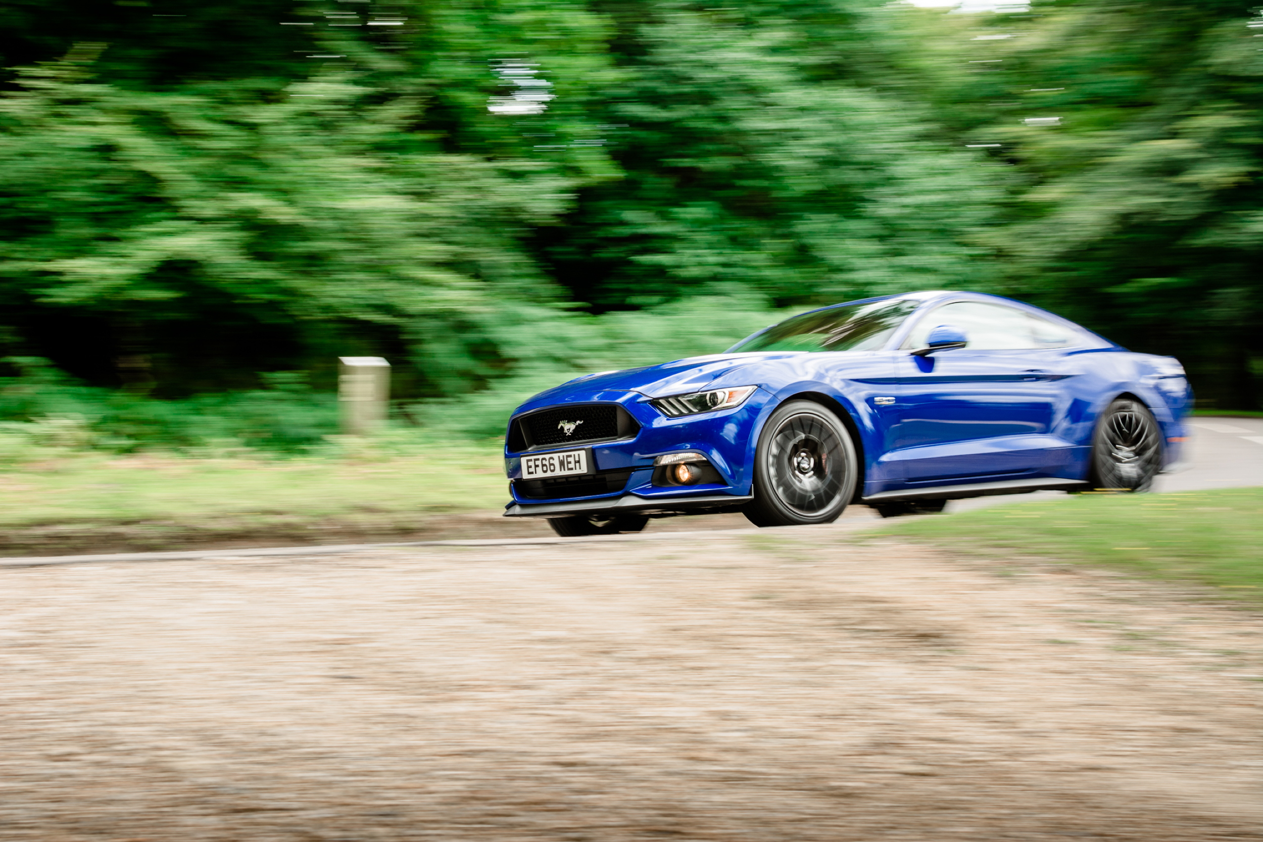 2017 Ford Mustang at speed
