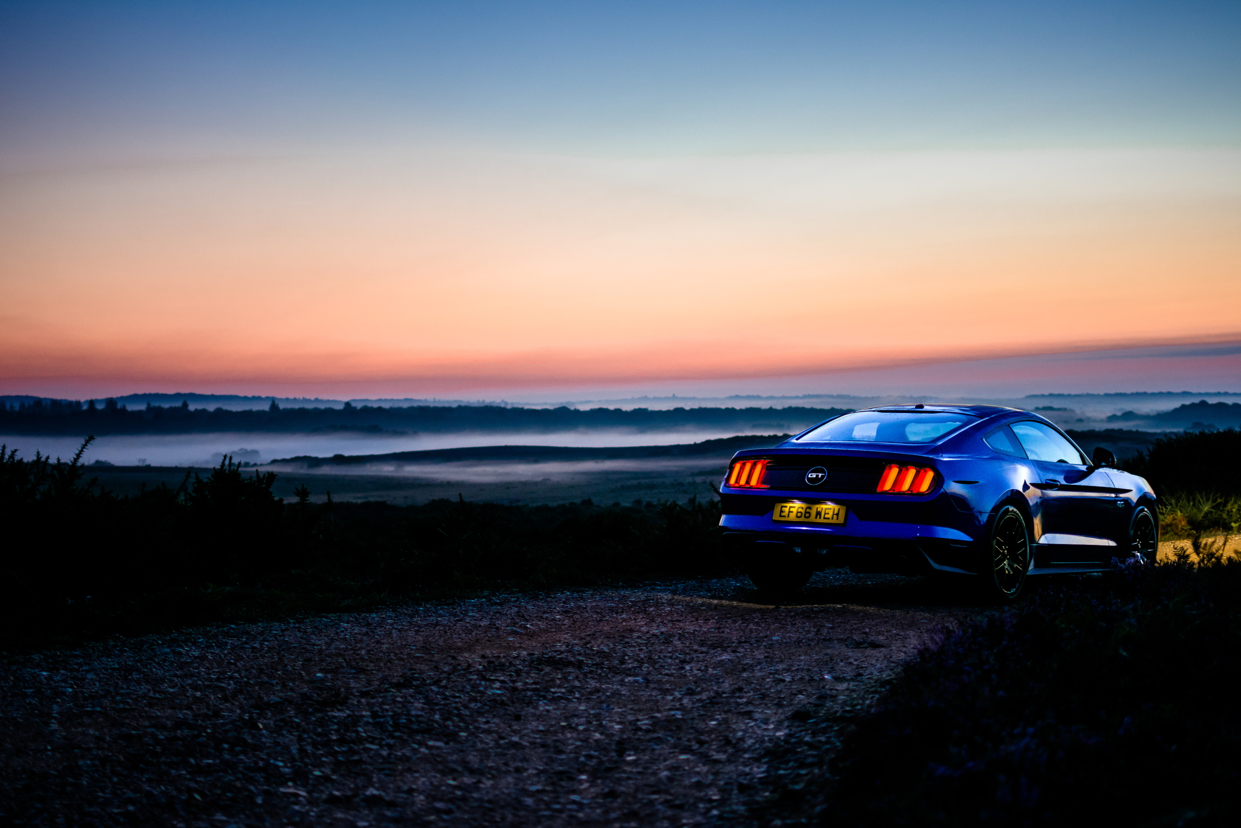 Ford Mustang sunrise
