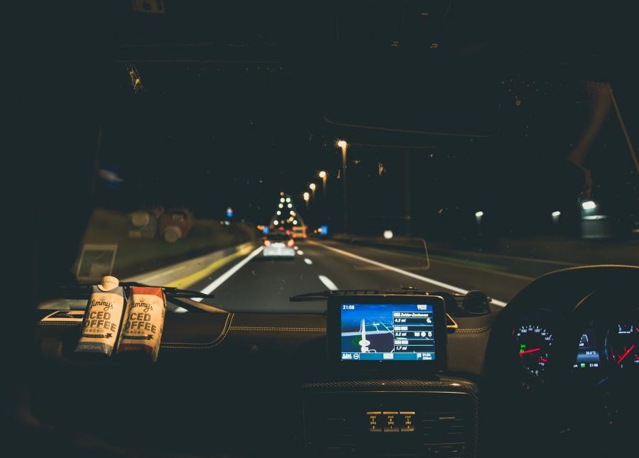 Jimmy's Iced Coffee nighttime autobahn
