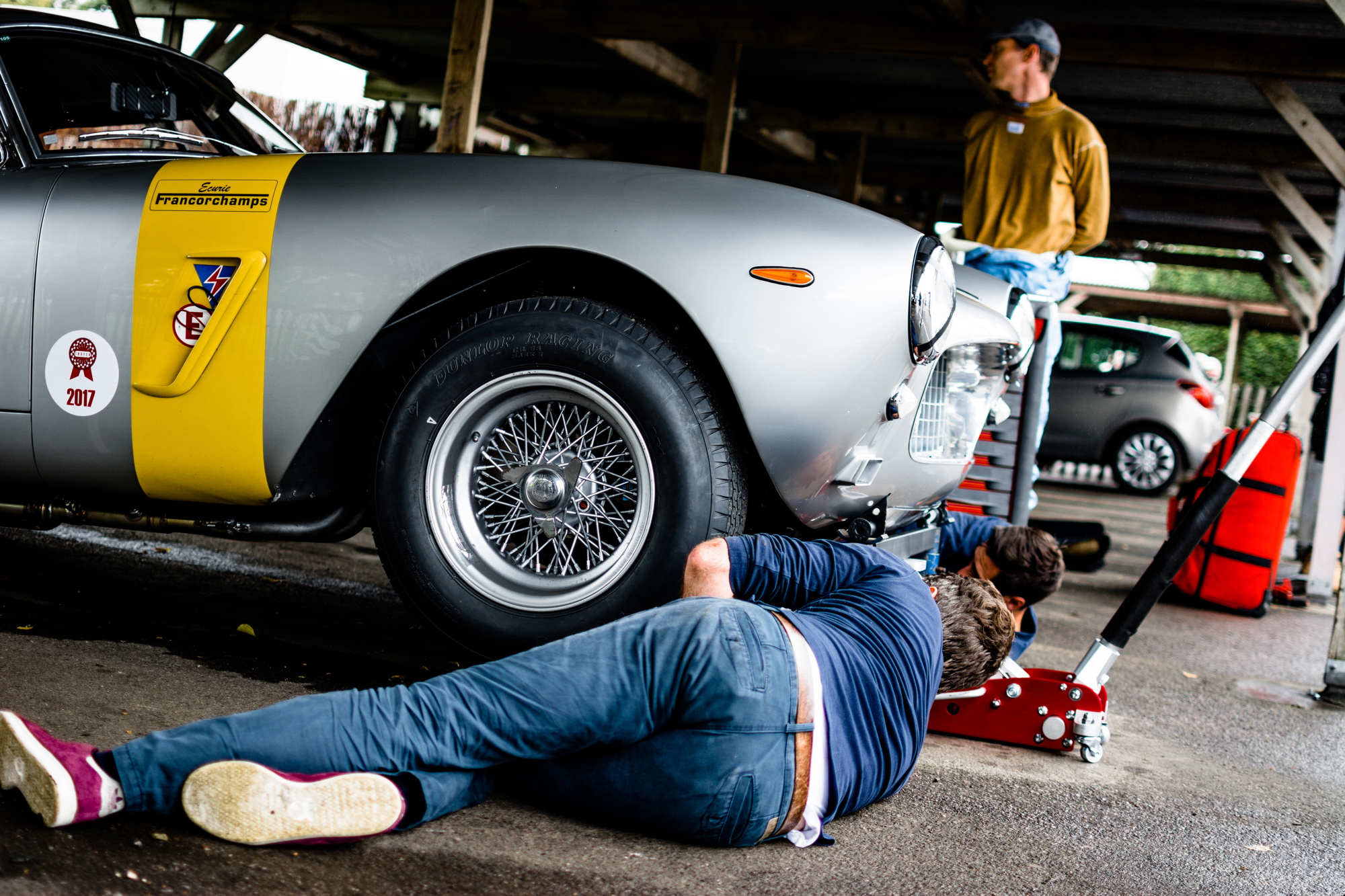 Ferrari repairs Goodwood Revival testing