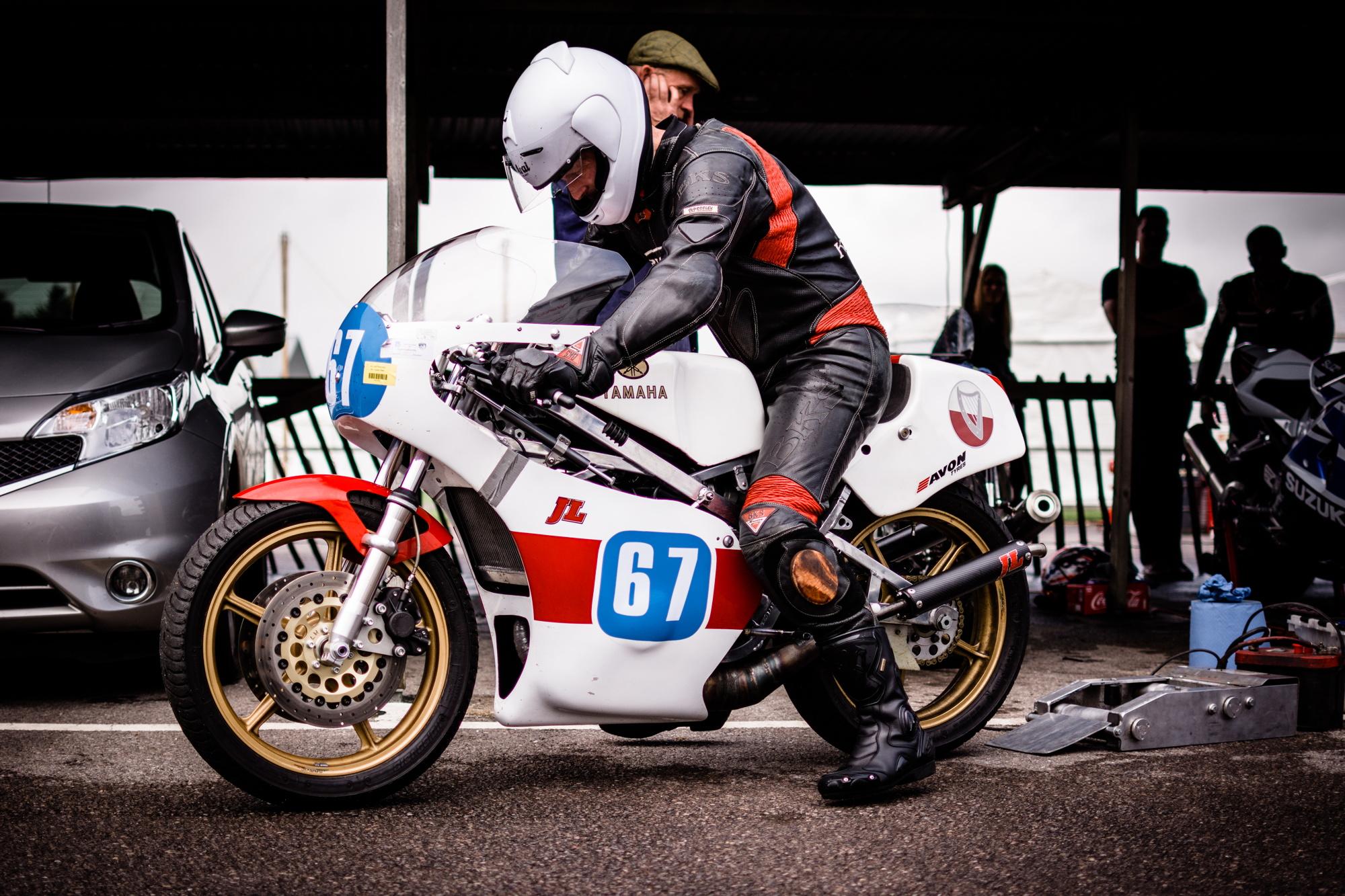 Yamaha 250cc Goodwood Revival testing