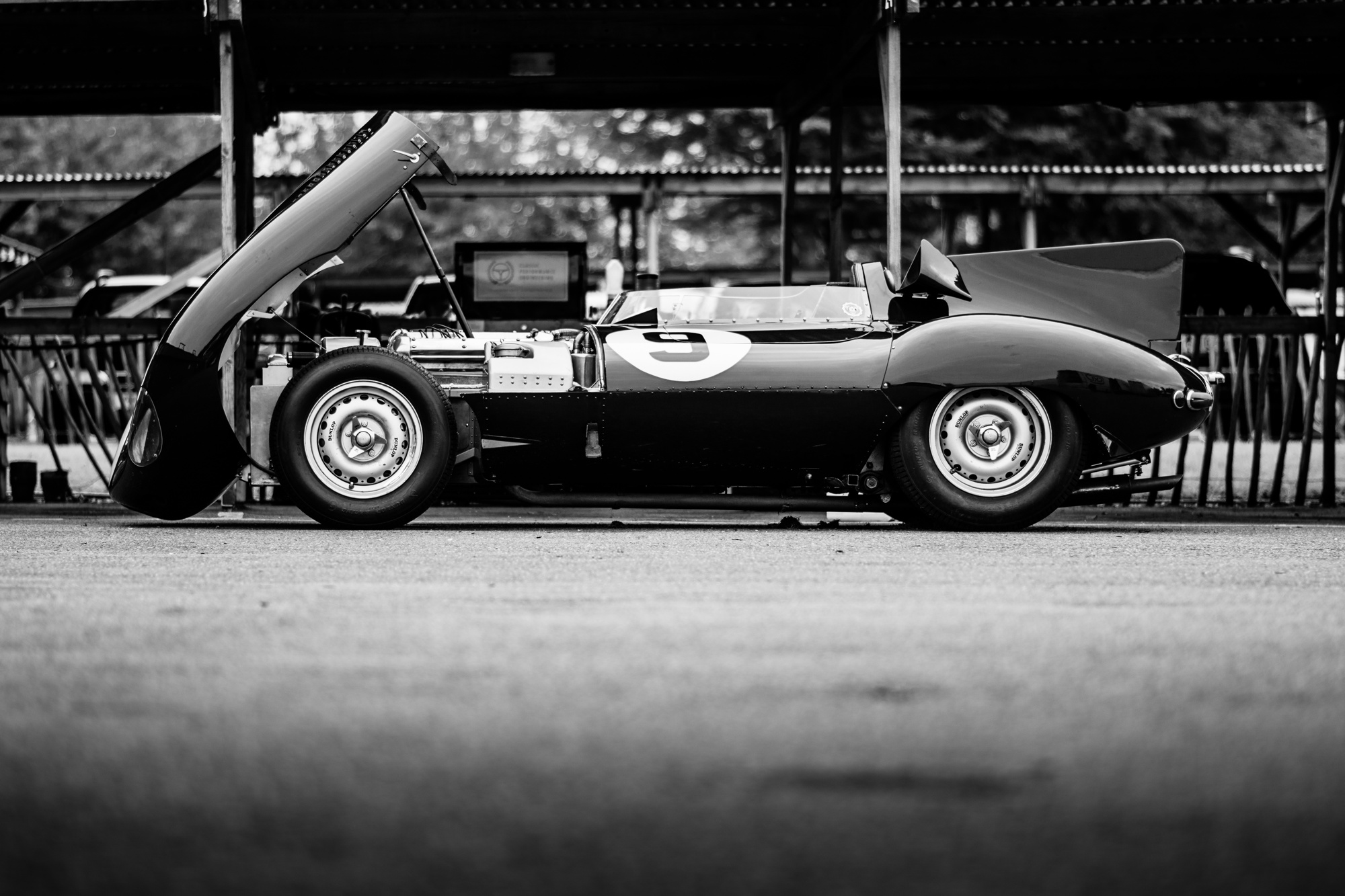 Jaguar D-Type Goodwood Revival testing