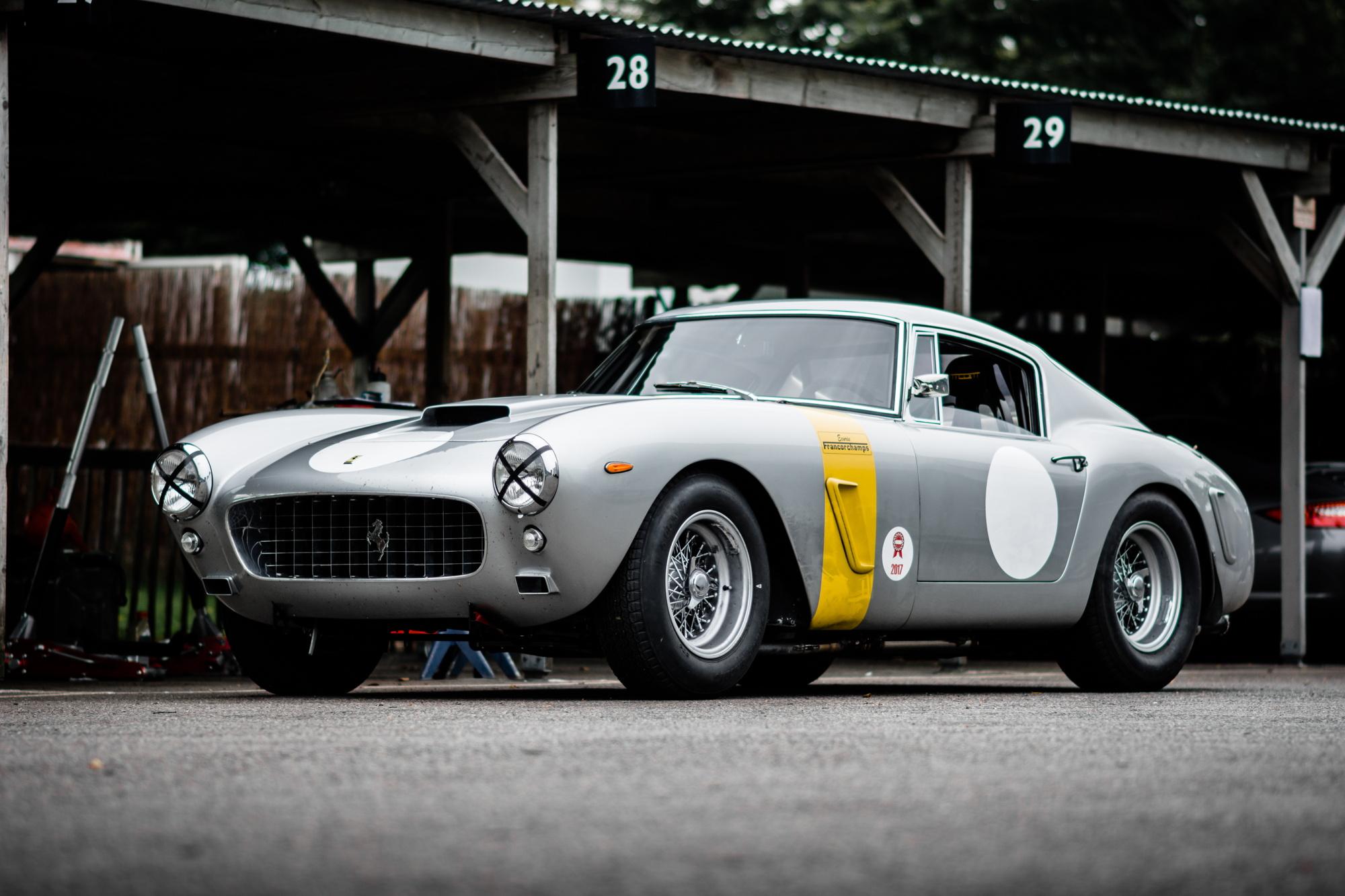 Ferrari 250 GT SWB Goodwood Revival testing