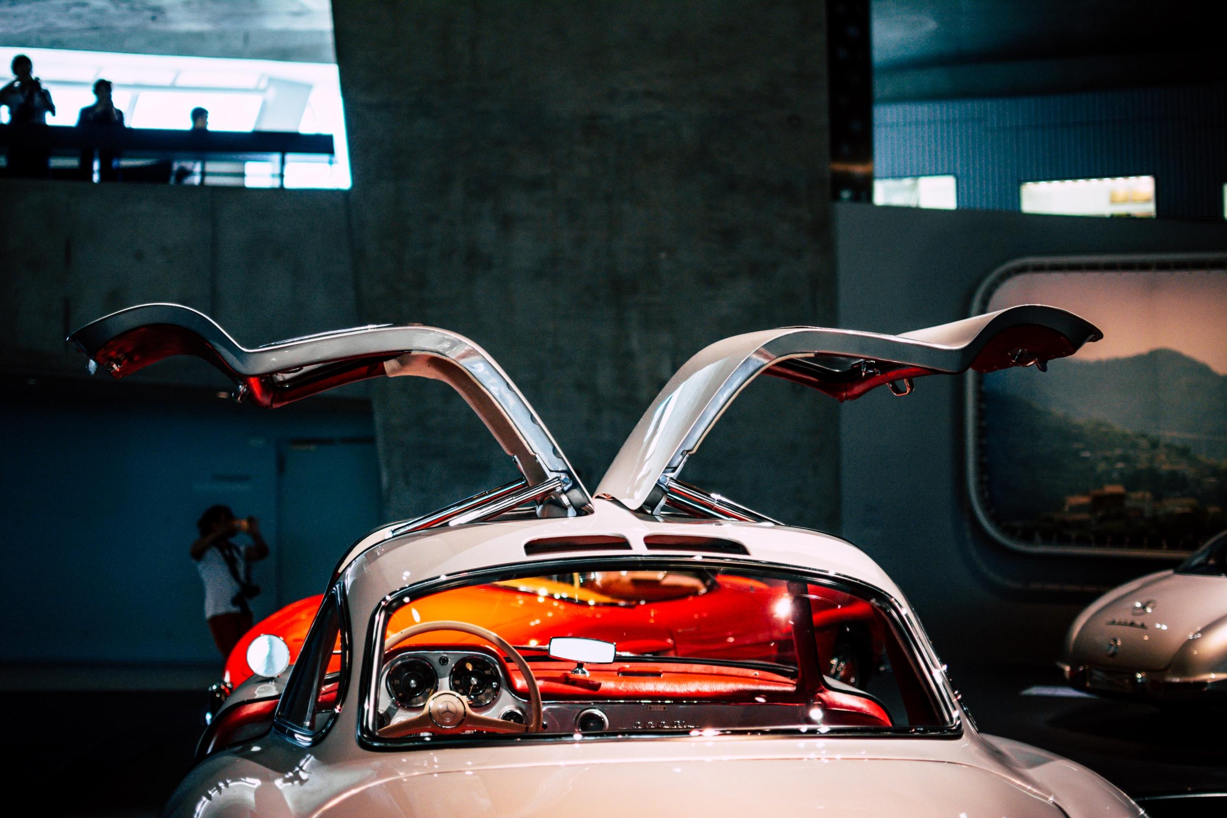 Mercedes-Benz Museum 300 SL Gullwing doors