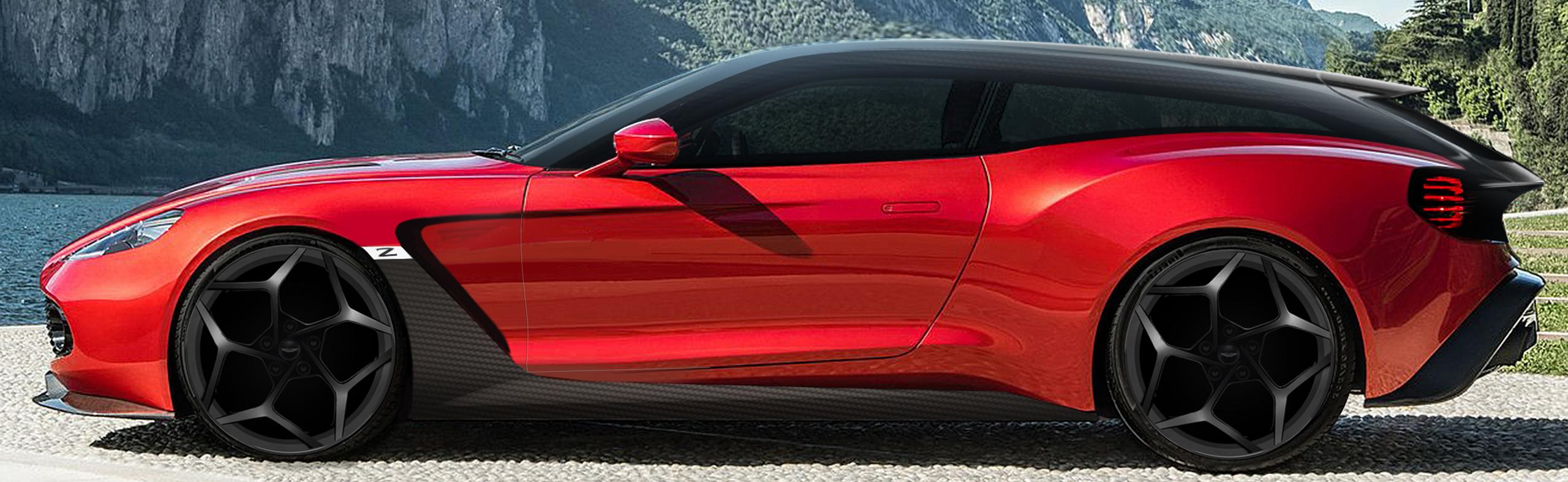 Aston Martin Vanquish Zagato Shooting Brake sketch