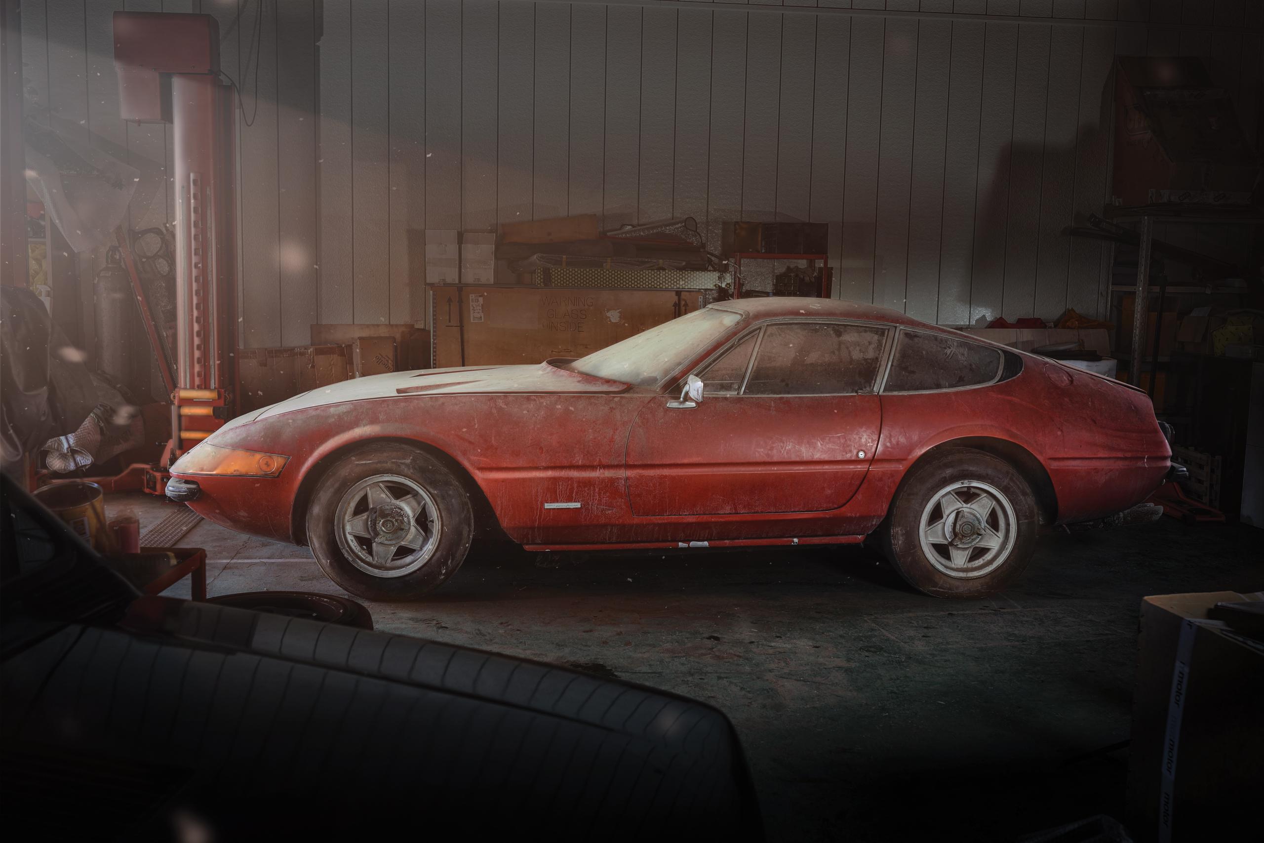 Barn-find alloy Ferrari 365 GTB/4 Daytona