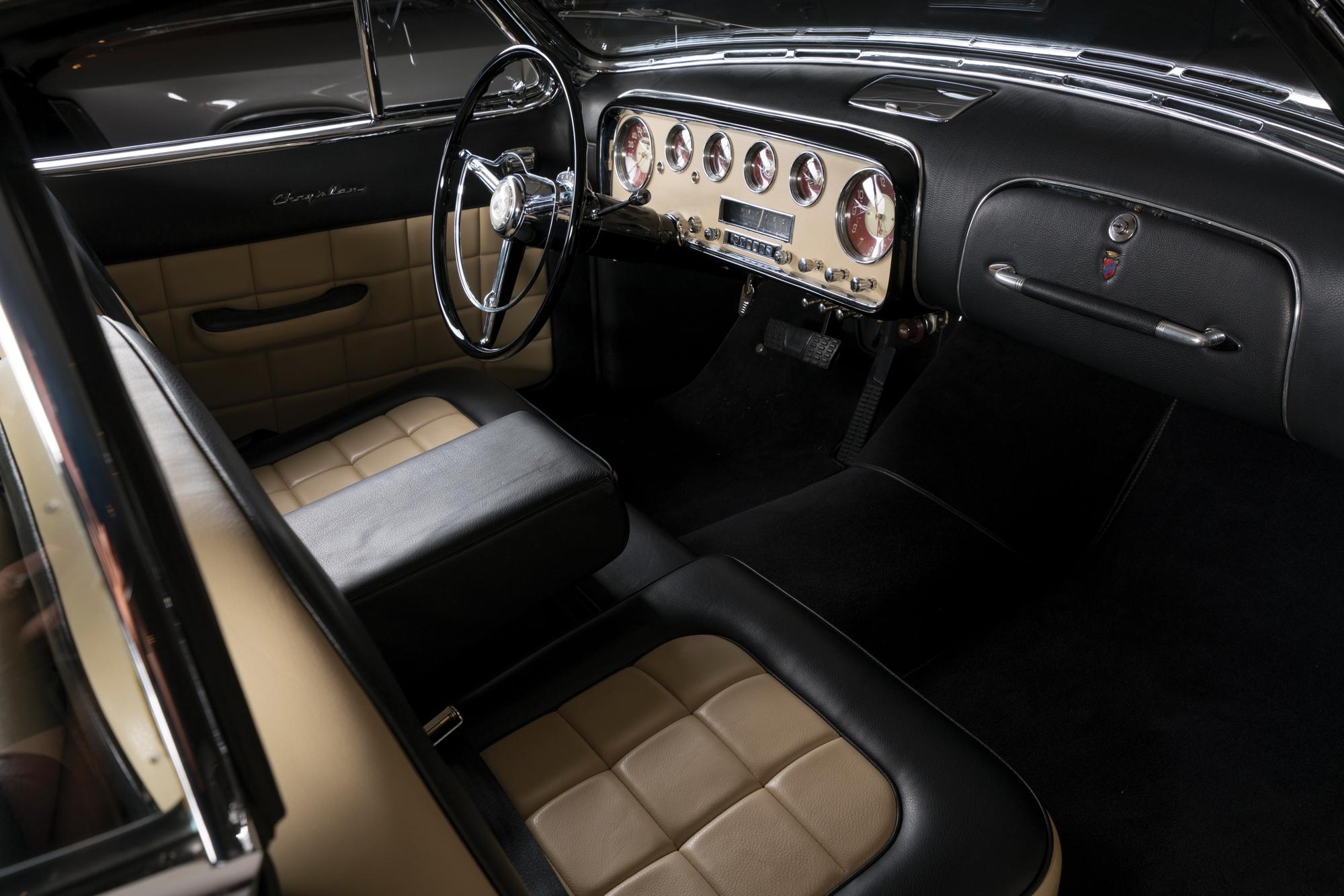 1952 Chrysler D'Elegance by Ghia interior