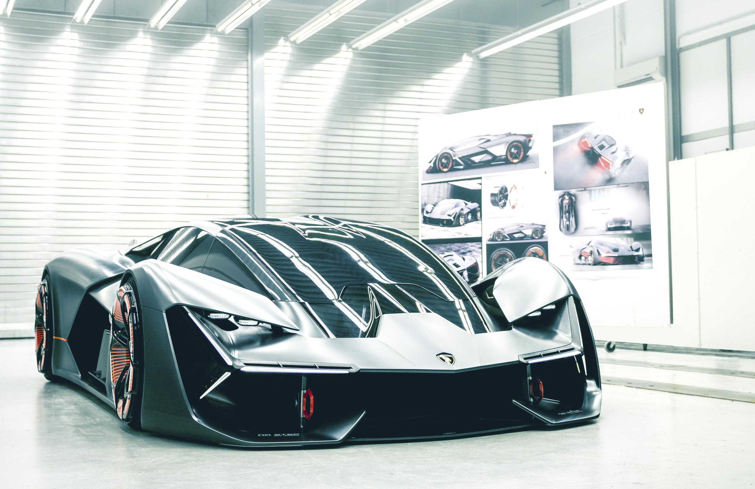 Lamborghini Terzo Millennio front quarter