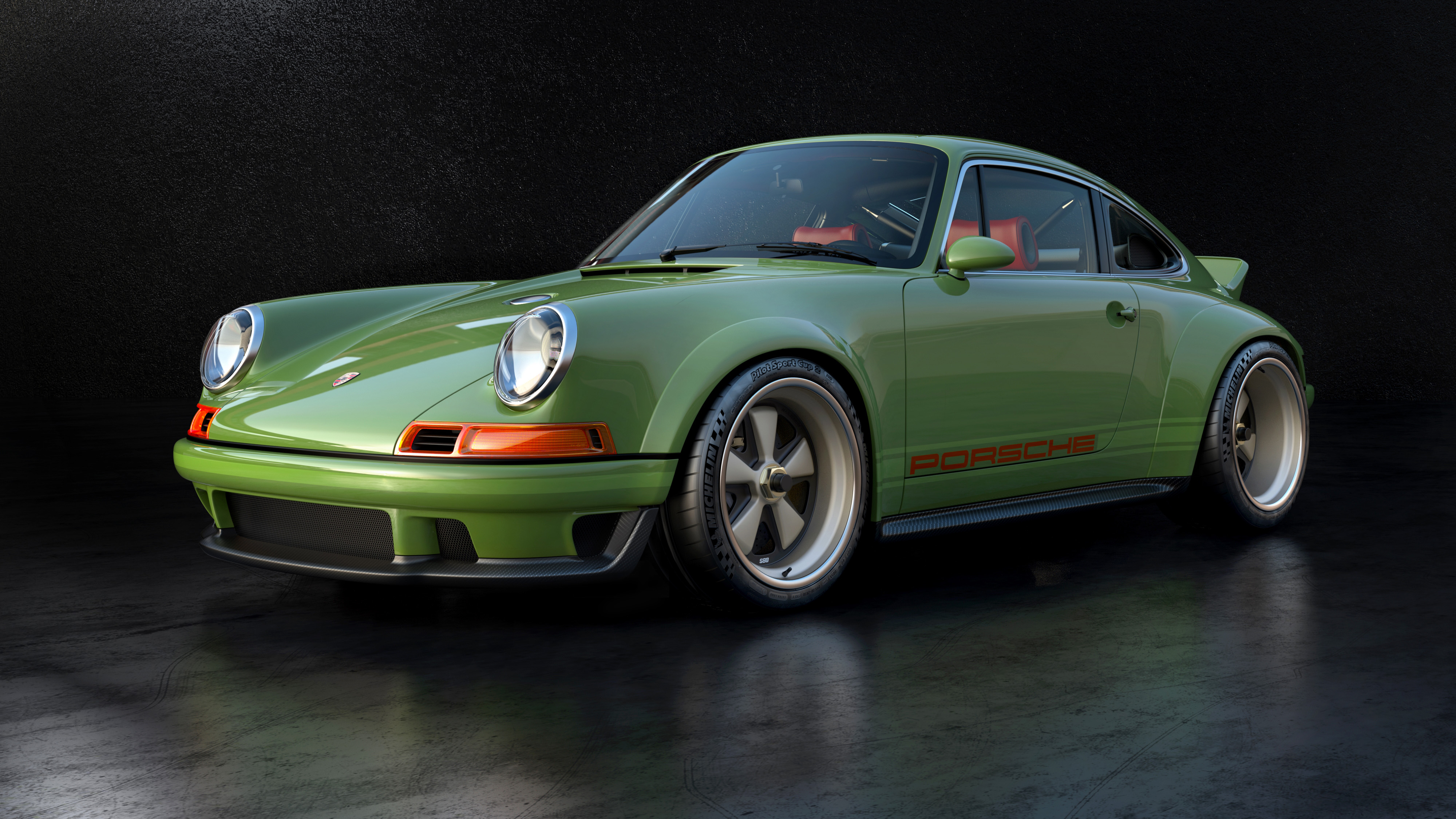 Porsche 911 restored by Singer & Williams front quarter