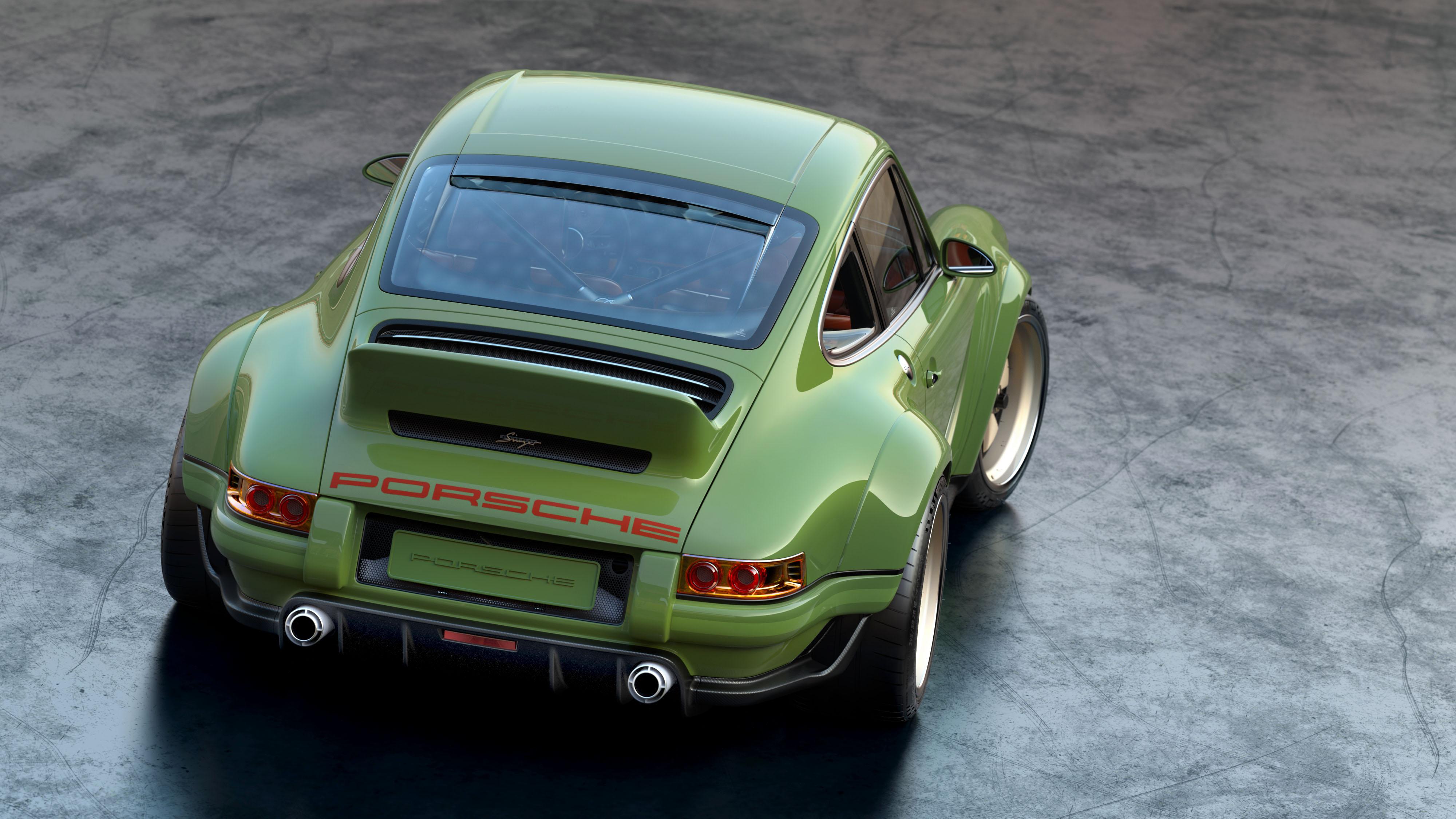 Porsche 911 restored by Singer & Williams rear