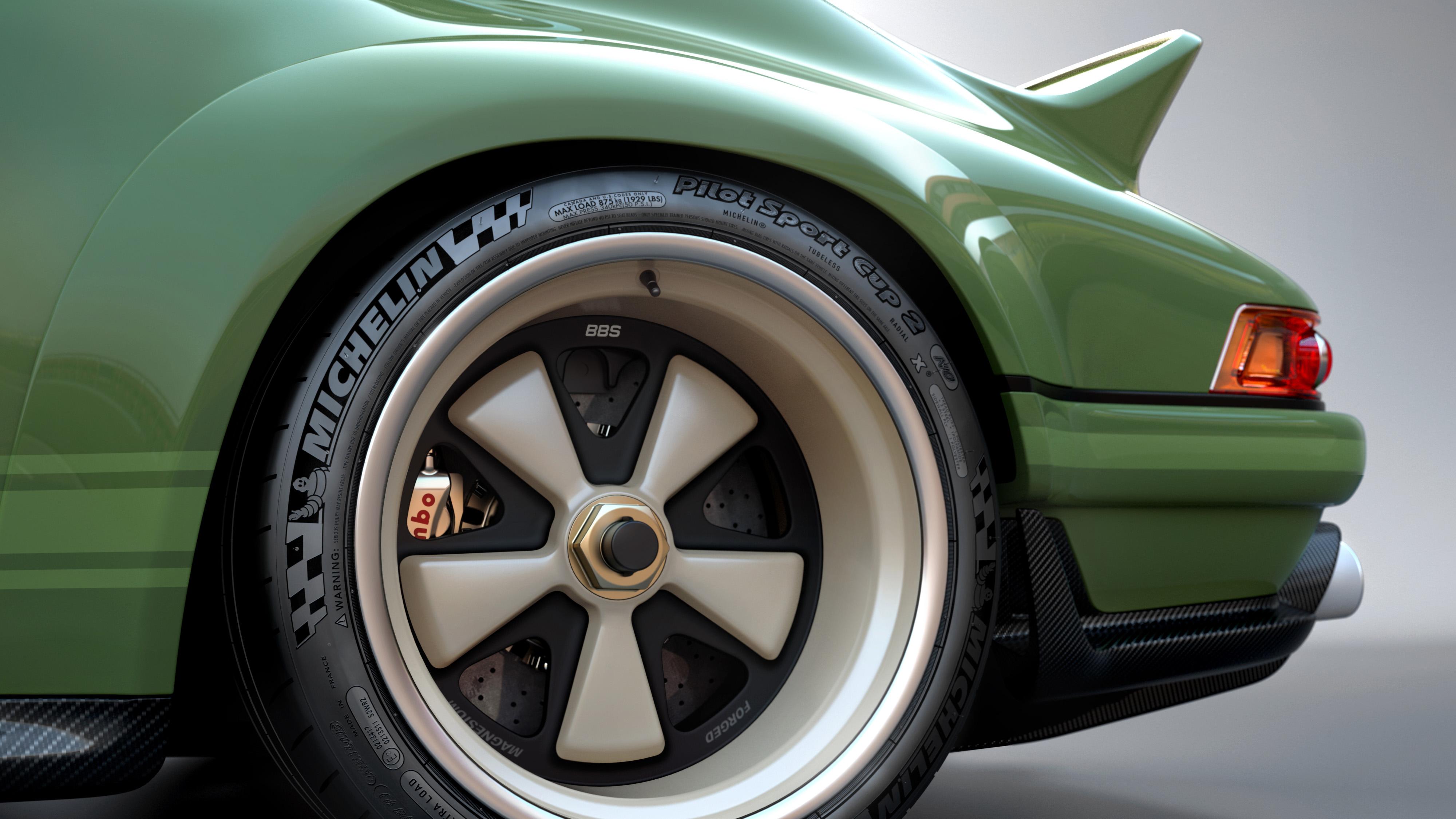 Porsche 911 restored by Singer & Williams wheels