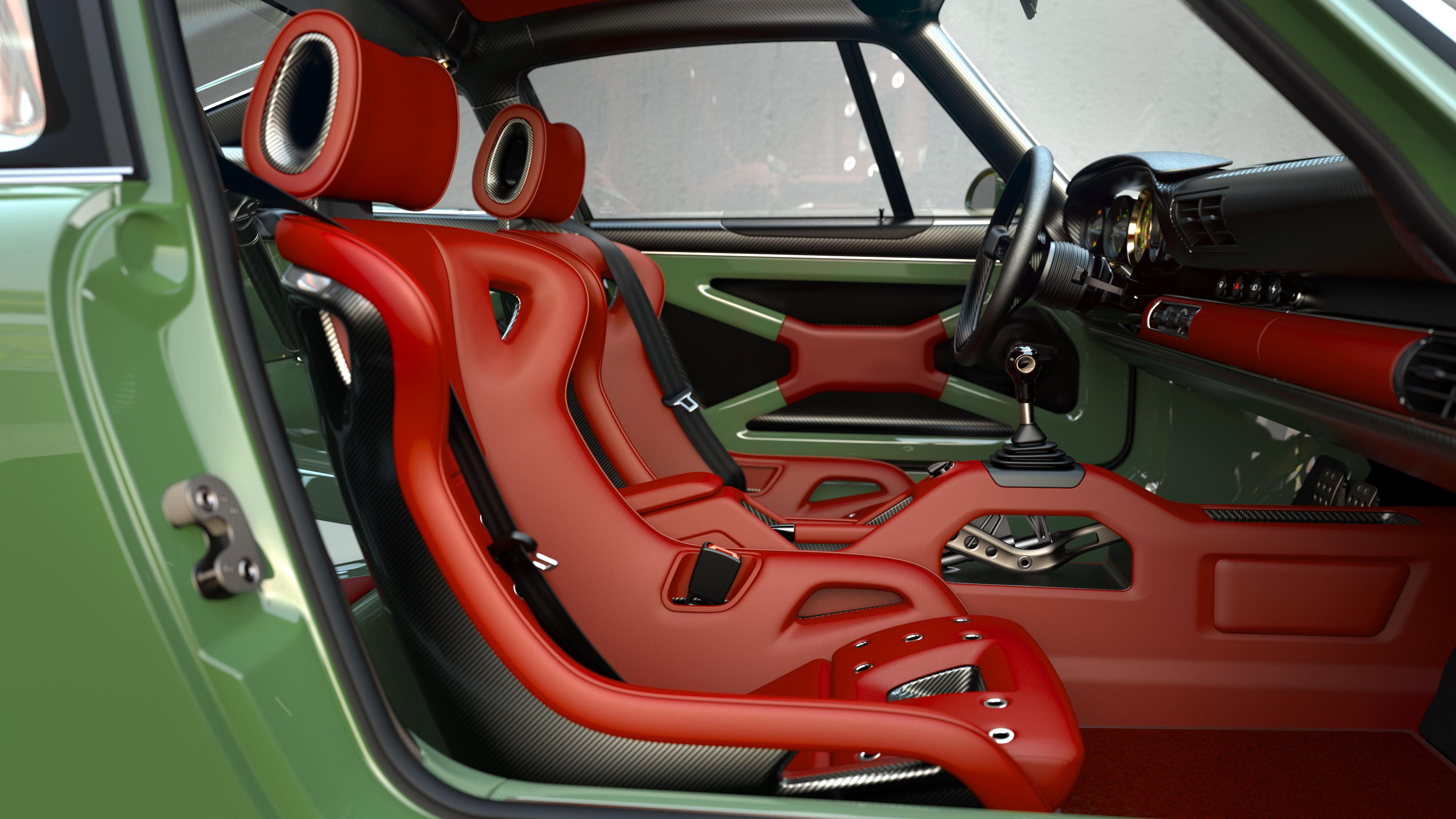 Porsche 911 restored by Singer & Williams cabin