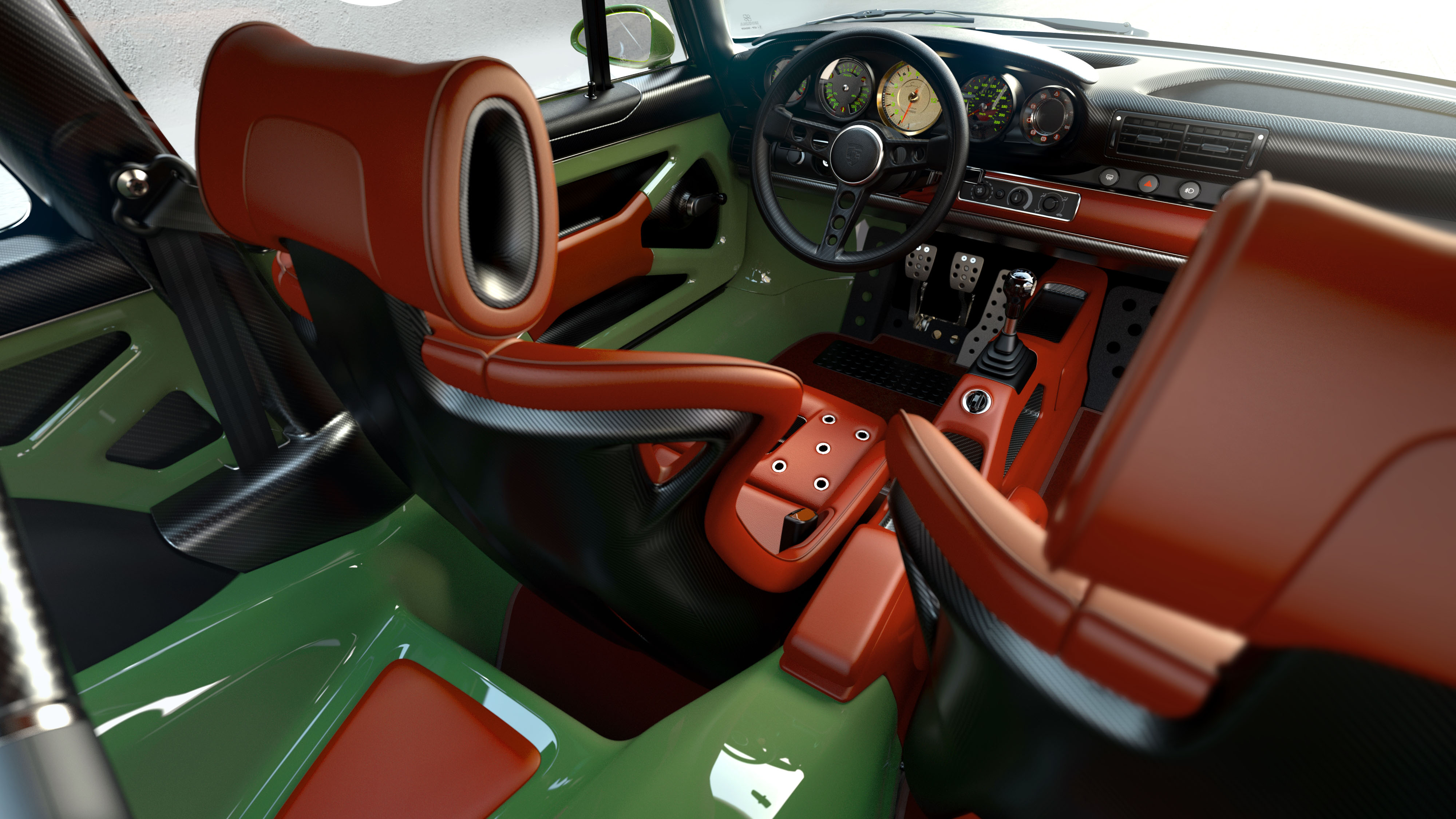 Porsche 911 restored by Singer & Williams interior