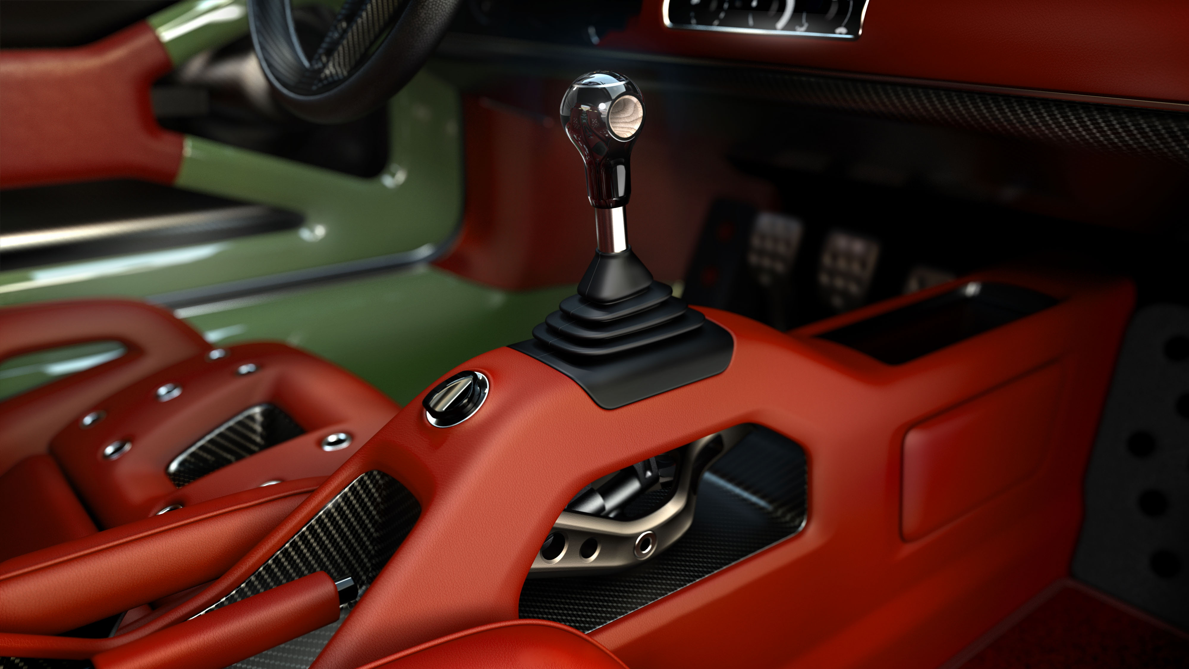 Porsche 911 restored by Singer & Williams gear lever