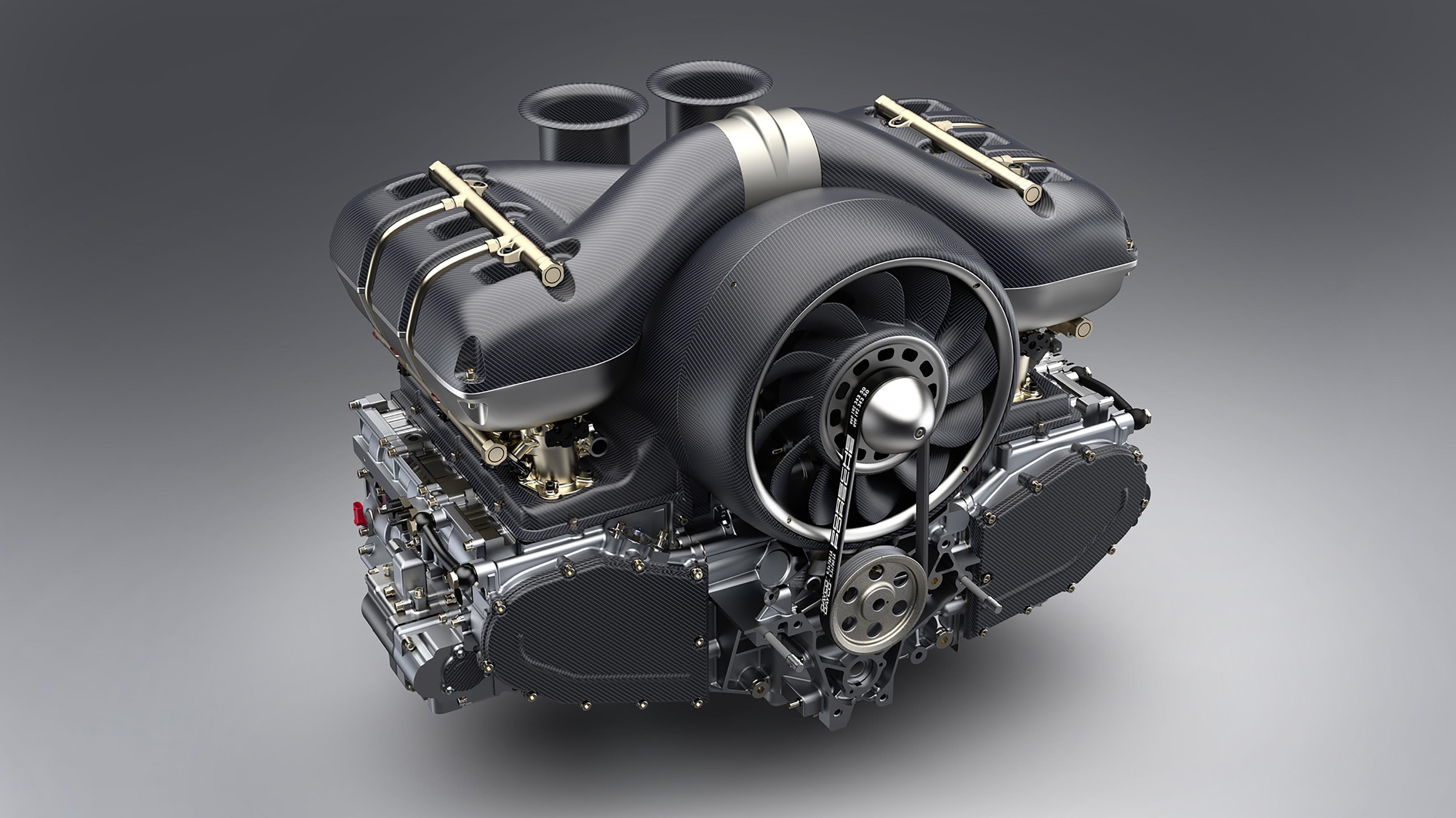 Porsche 911 restored by Singer & Williams engine