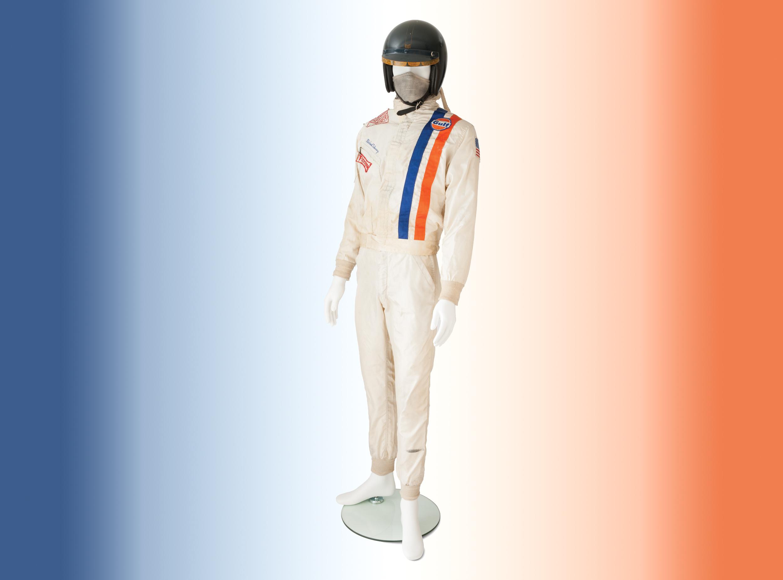 Steve McQueen's Le Mans overalls and helmet