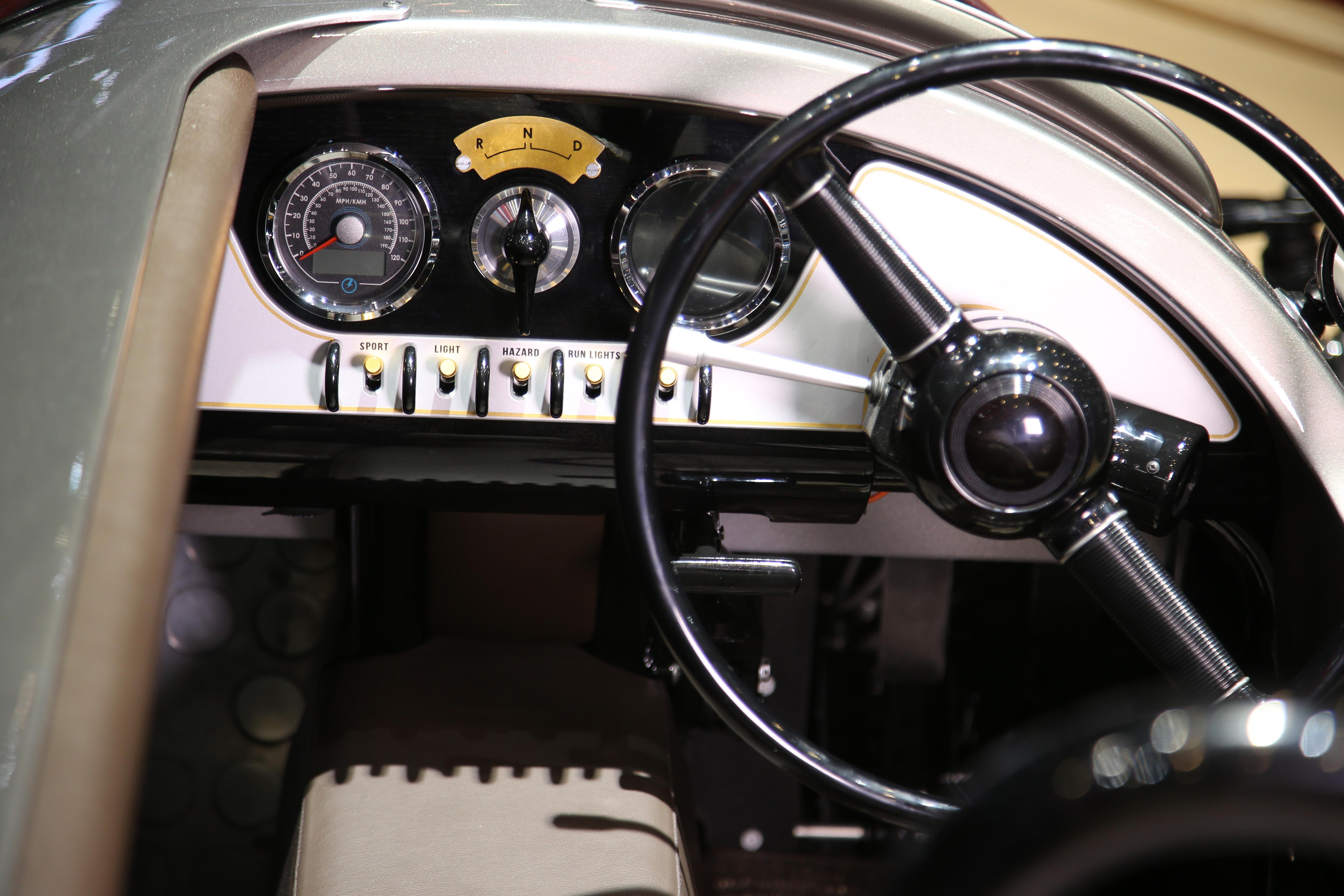 Morgan EV3 cockpit