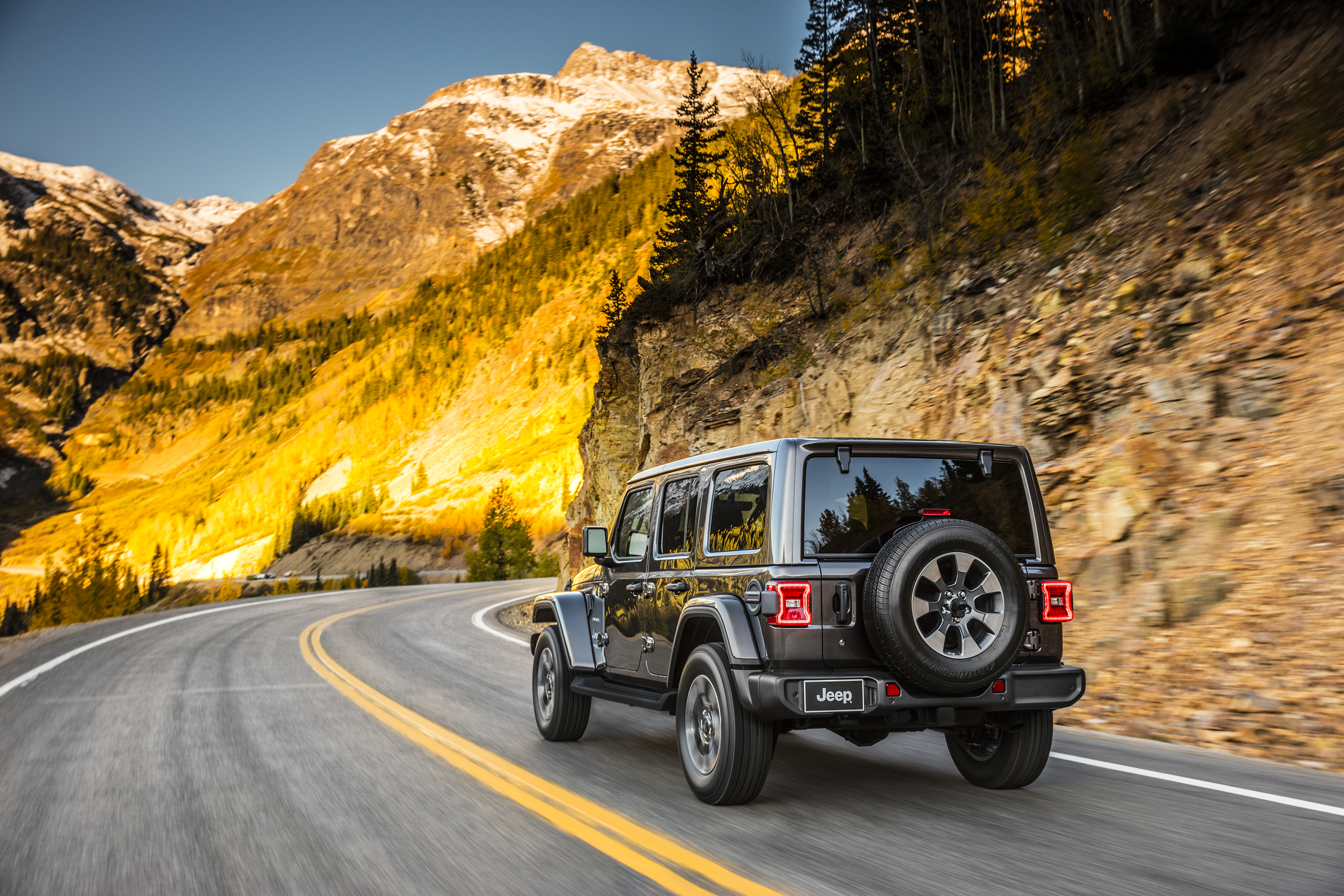 2018 Jeep Wrangler Sahara rear driving