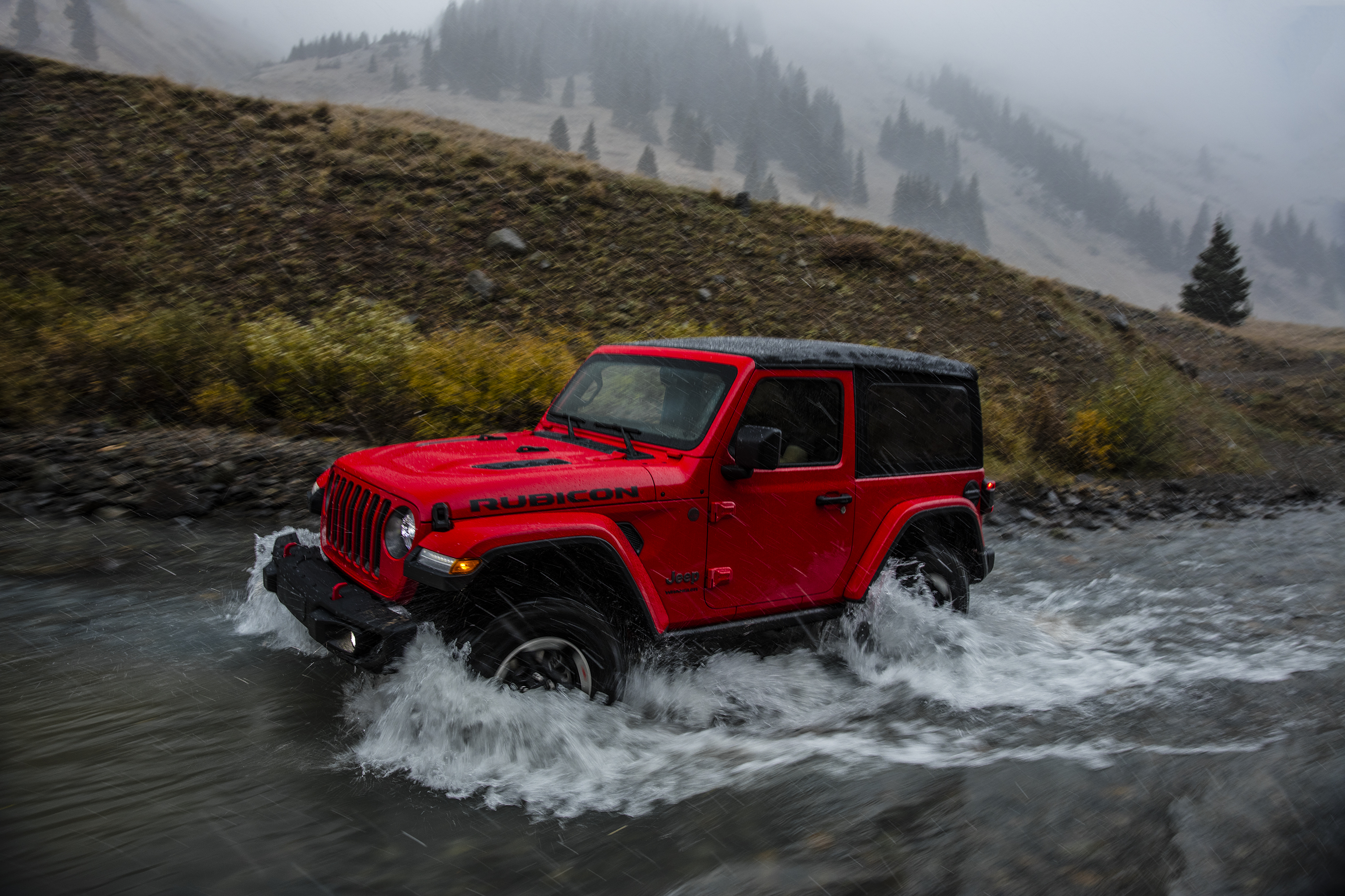 2018 Jeep Wrangler Rubicon water driving