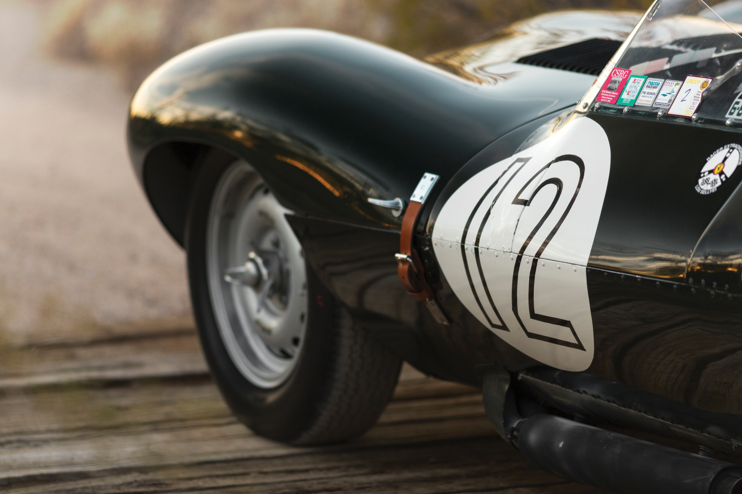 ex-Stirling Moss Jaguar D-Type number detail