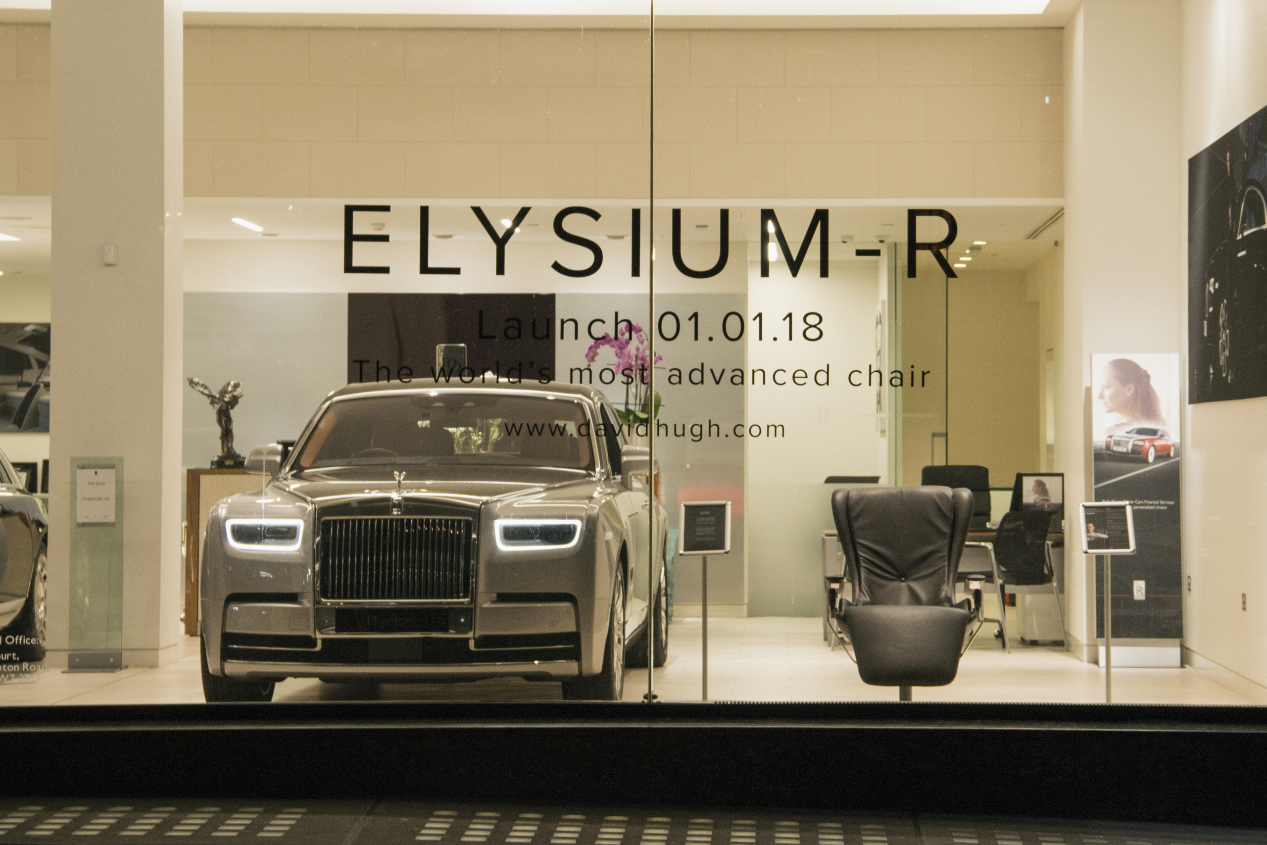 DavidHugh Elysium-R Rolls-Royce showroom
