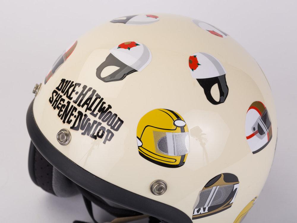 Joel Clark moto legends helmet
