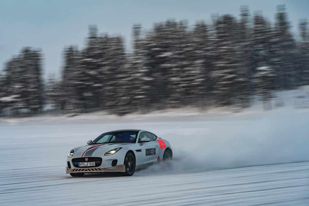 Jaguar Ice Driving